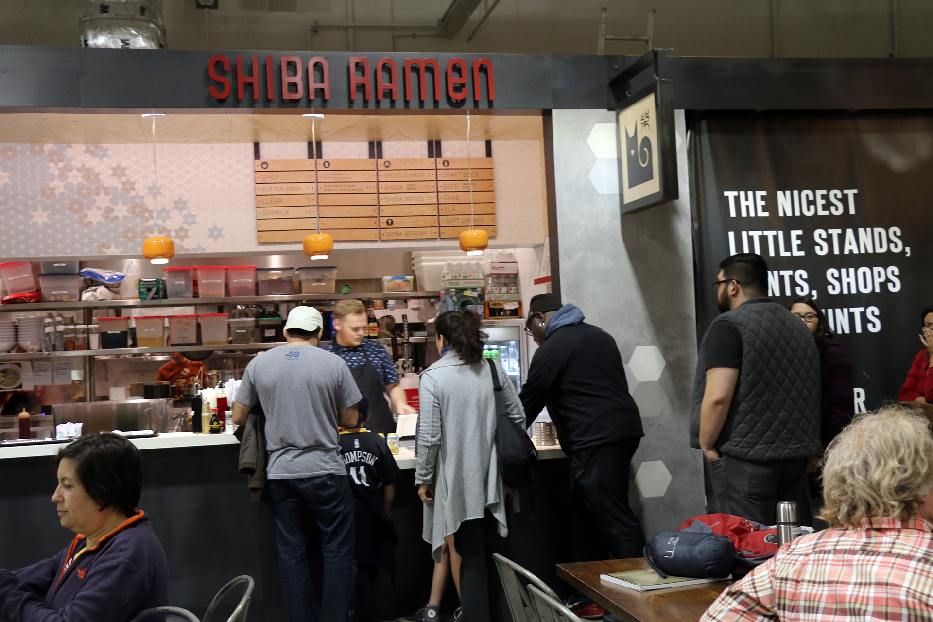 The Shiba Ramen kiosk at Emeryville Public Market