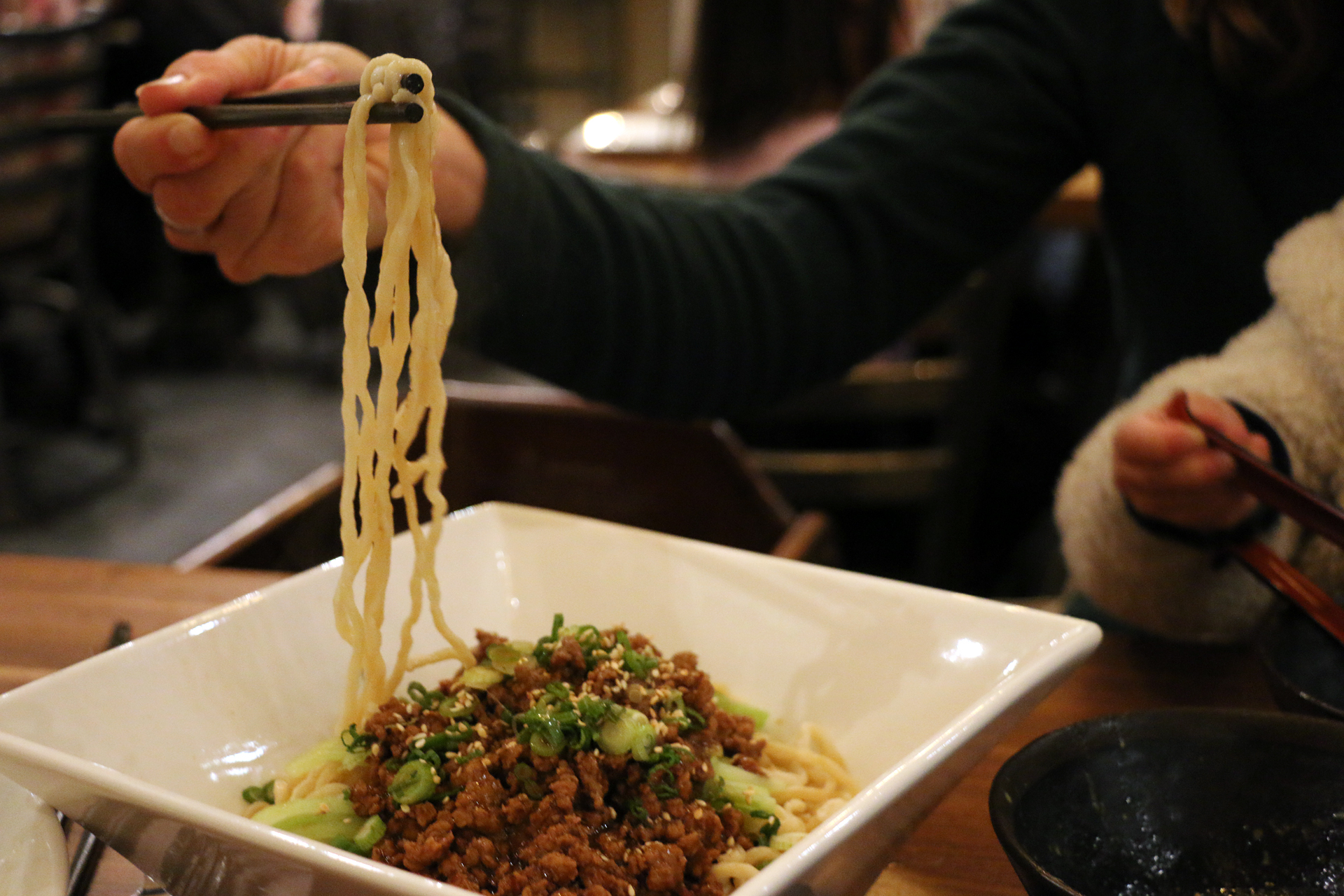 Noodle Theory's signature ground pork with spicy bean paste.