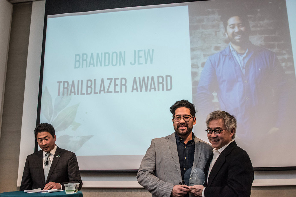 Chef Brandon Jew receives Trailblazer Award at CAAMFeast 2016