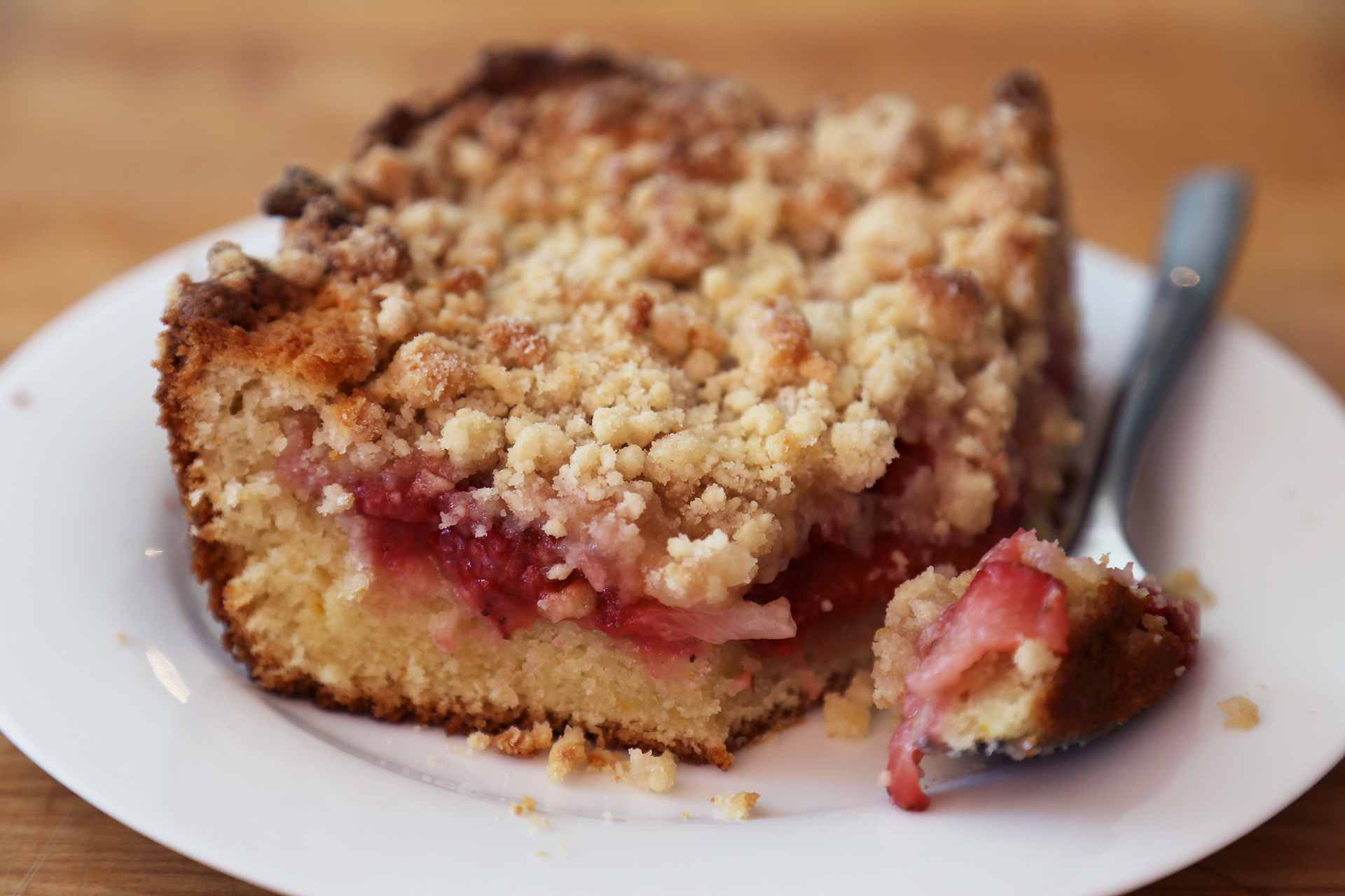 Strawberry – Meyer Lemon Coffeecake