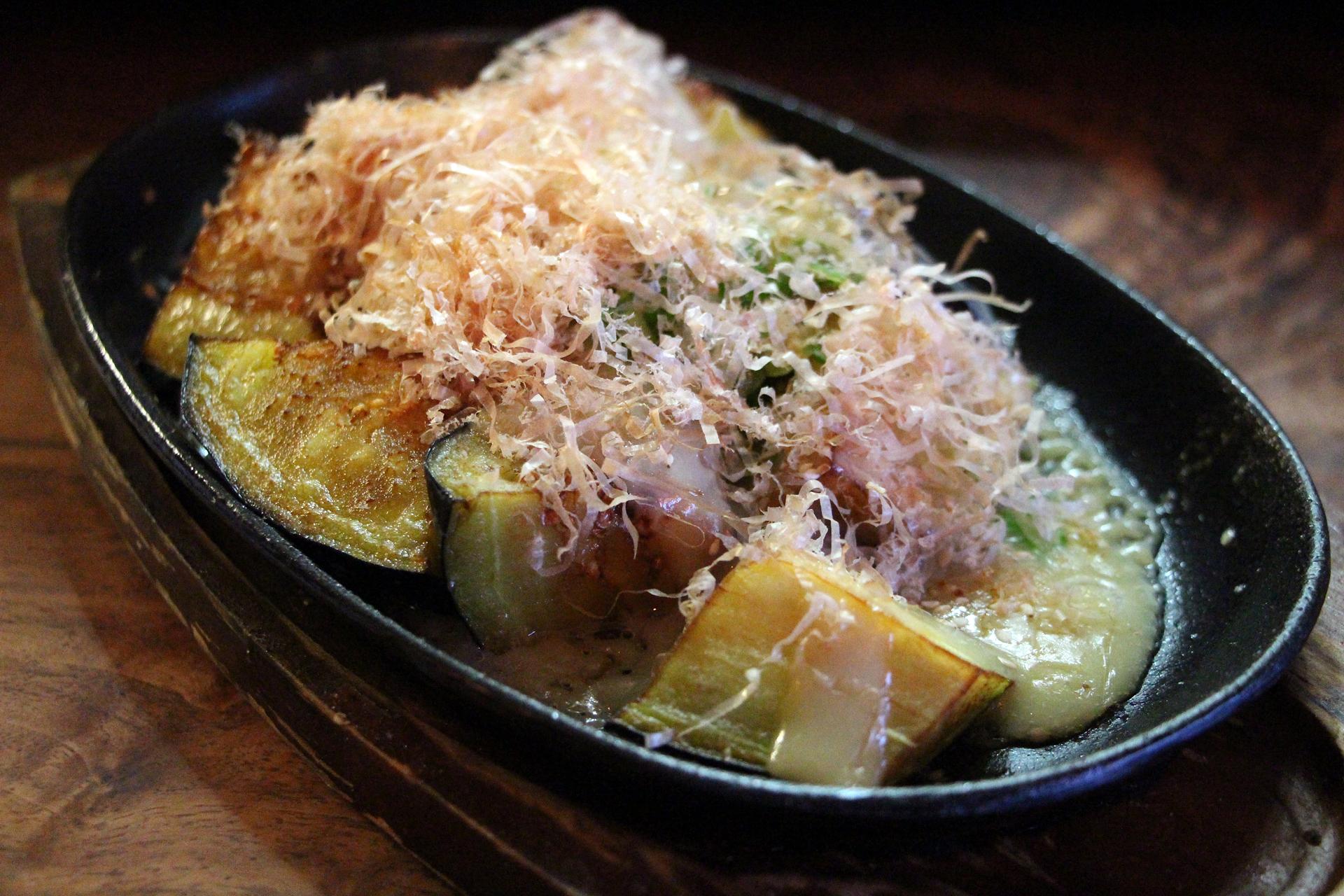 Izakaya Sozai's eggplant, nasu dengaku.