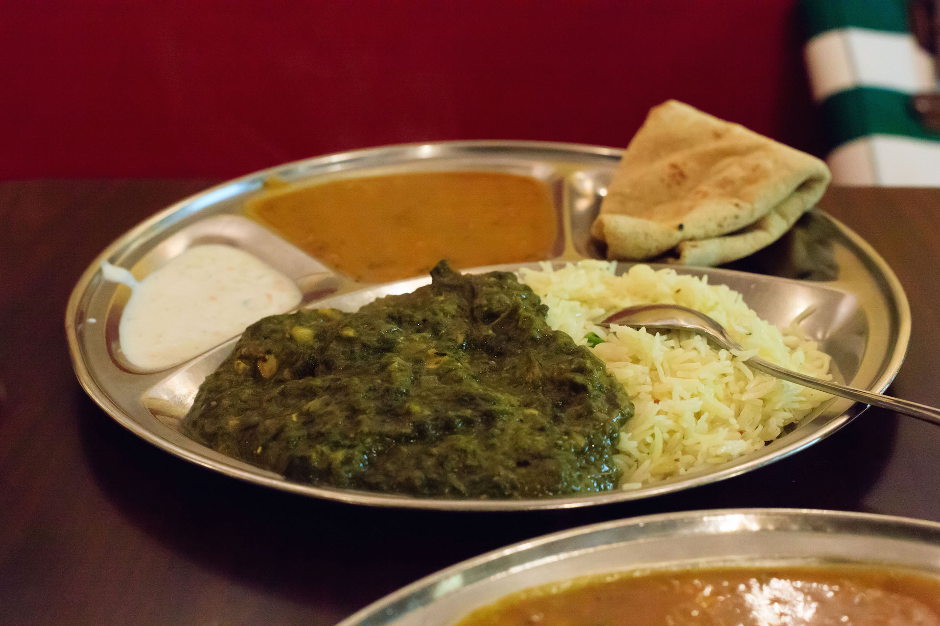 The Saag Paneer plate at Sartaj India Cafe.