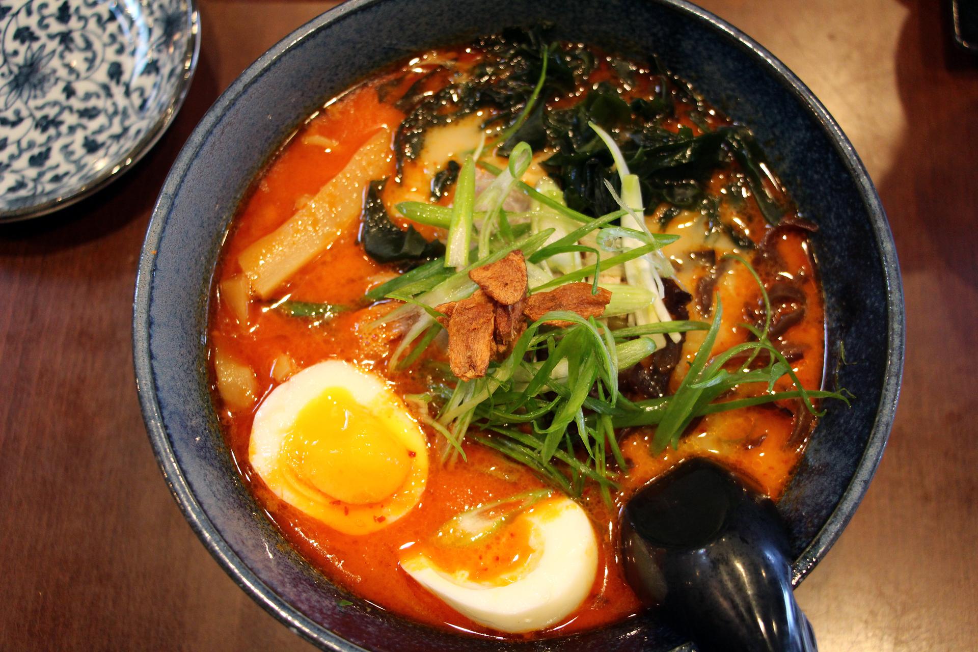 Sawaii Ramen's spicy garlic tonkotsu.