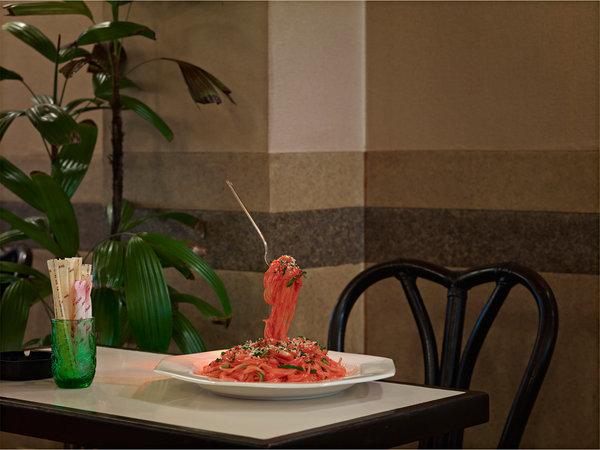spagetti food art