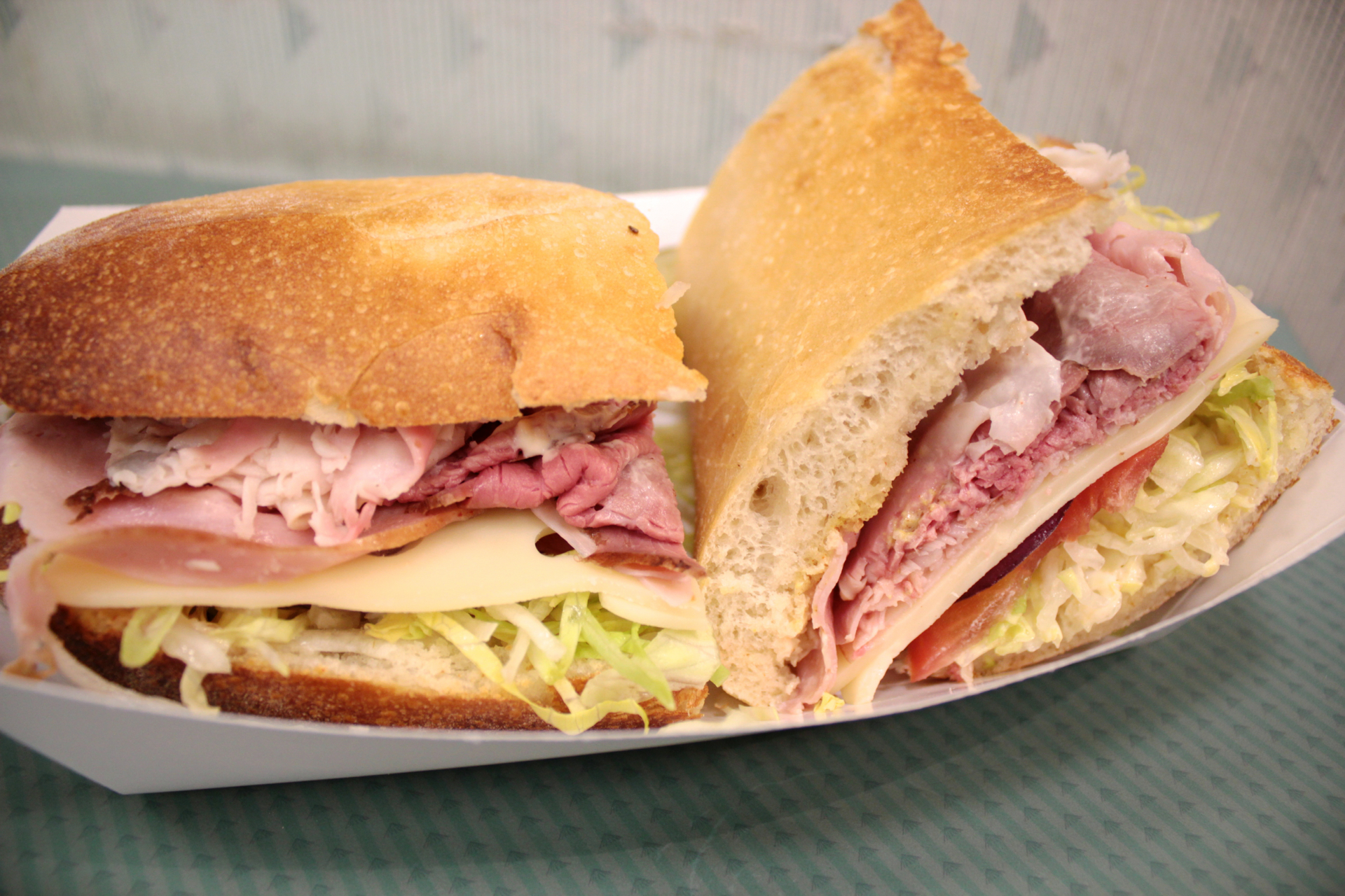 The classic sandwich at Freshly Baked Eatery with roast beef, country ham and turkey.