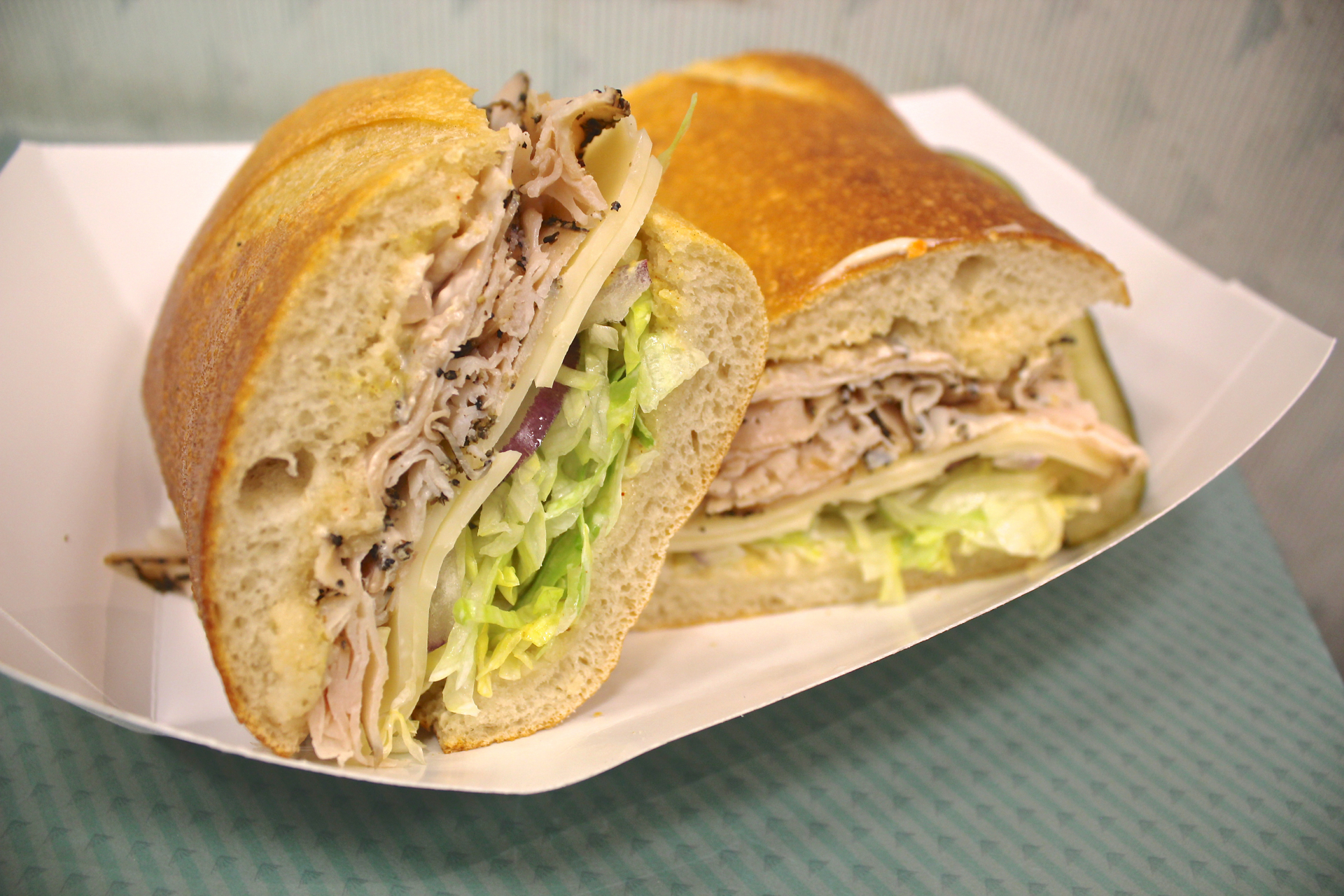 The peppered turkey sandwich at Freshly Baked Eatery.