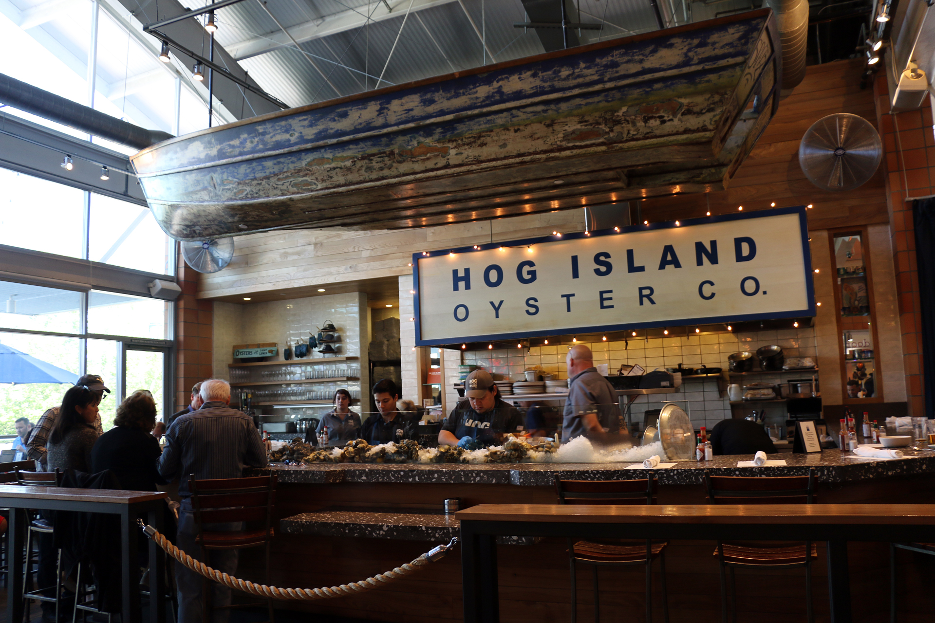 The oyster bar at Hog Island Oyster Co.