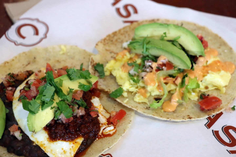 Breakfast tacos at C Casa. Kim Westerman