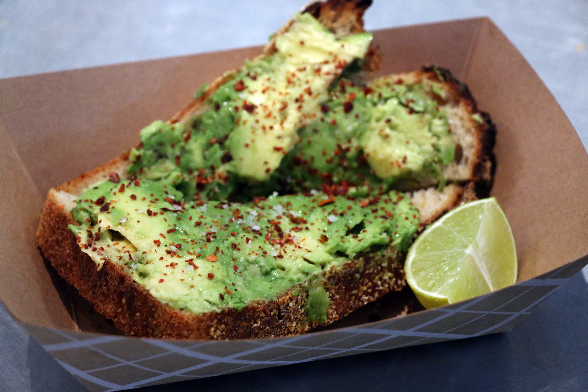 Avocado toast at Hudson.