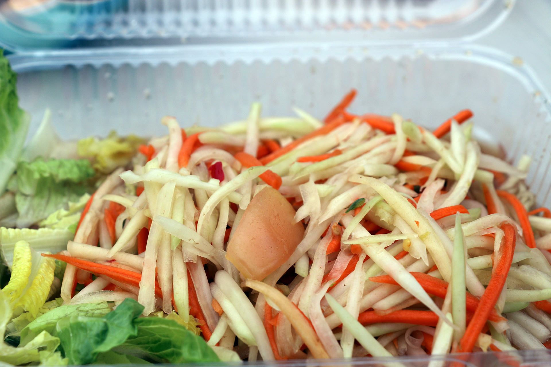 Green papaya salad.
