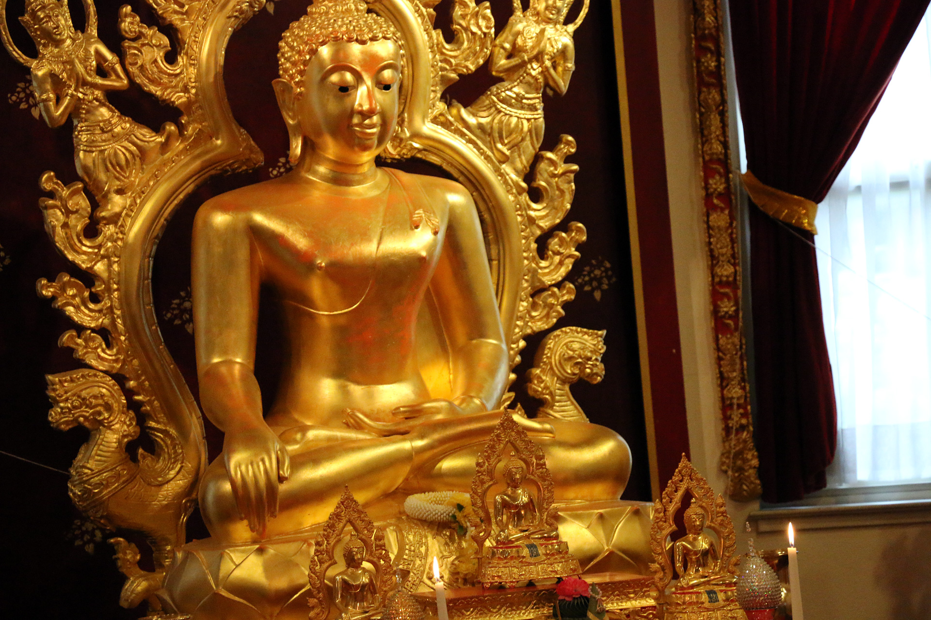 Altar inside the Thai Temple.