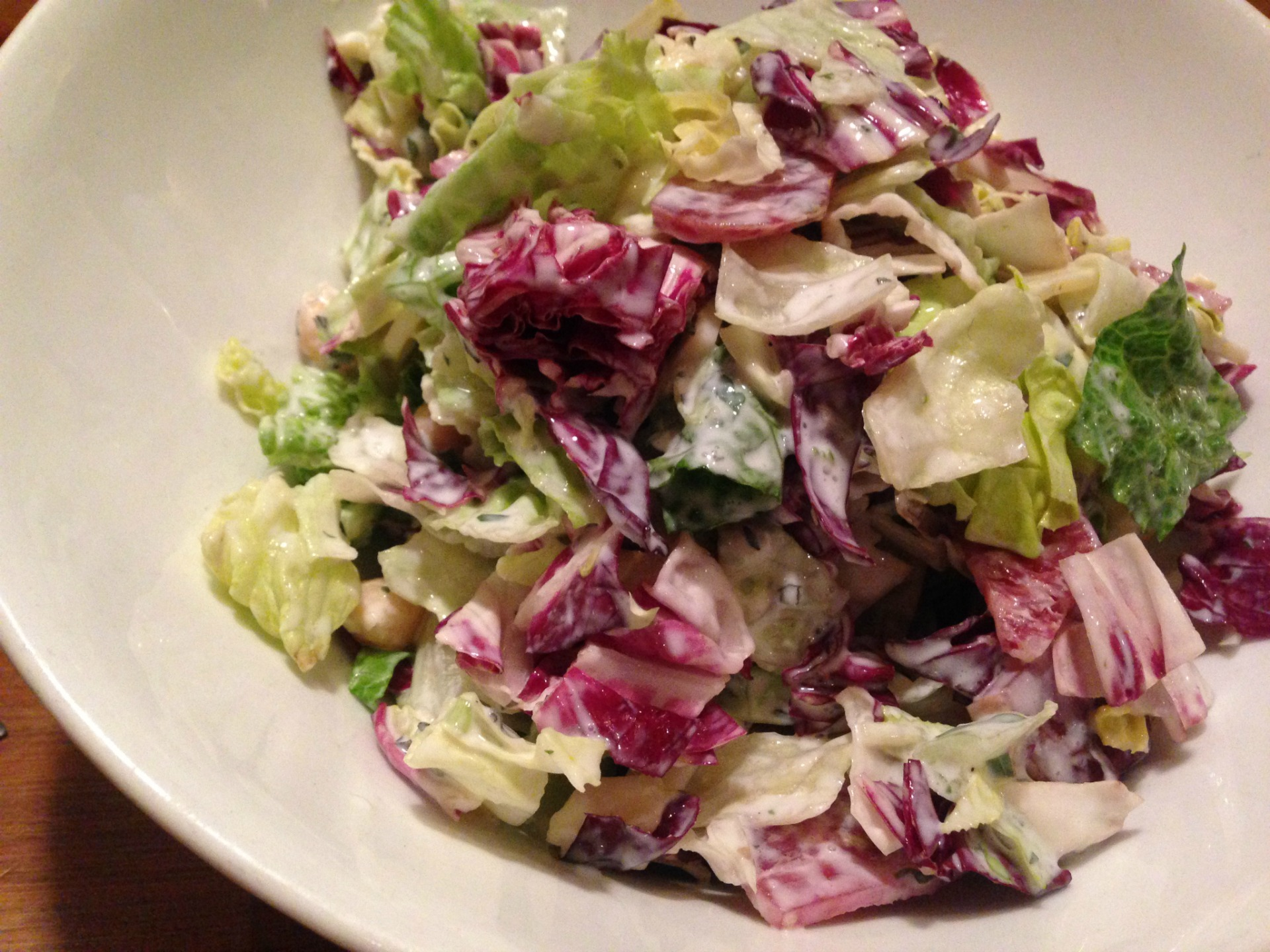 The chopped salad at Sidebar.