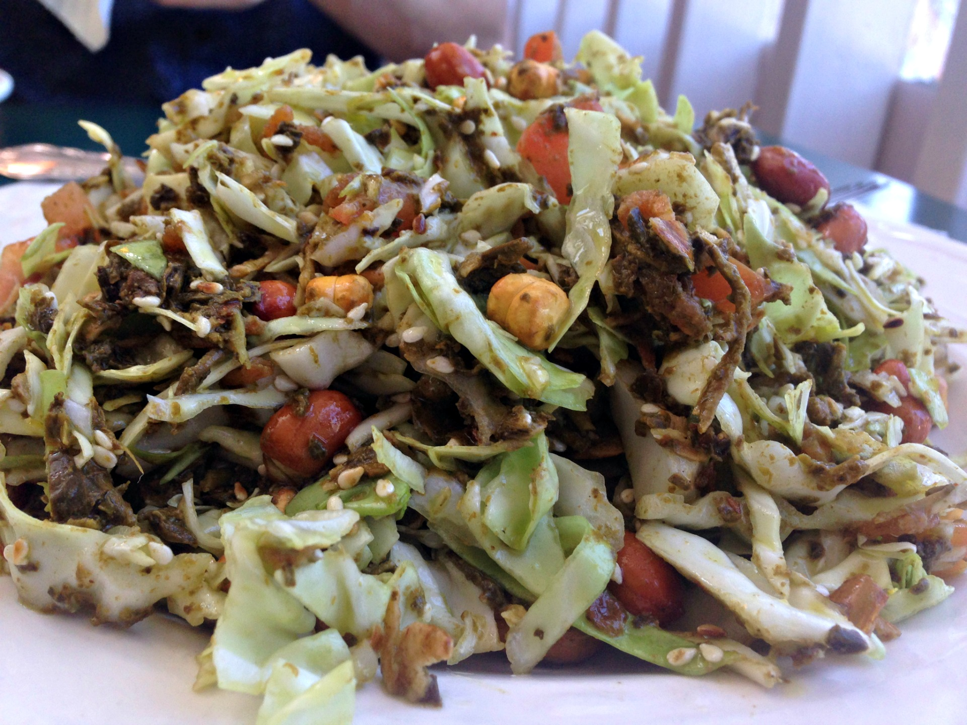 Tea Leaf Salad at Grocery Cafe.