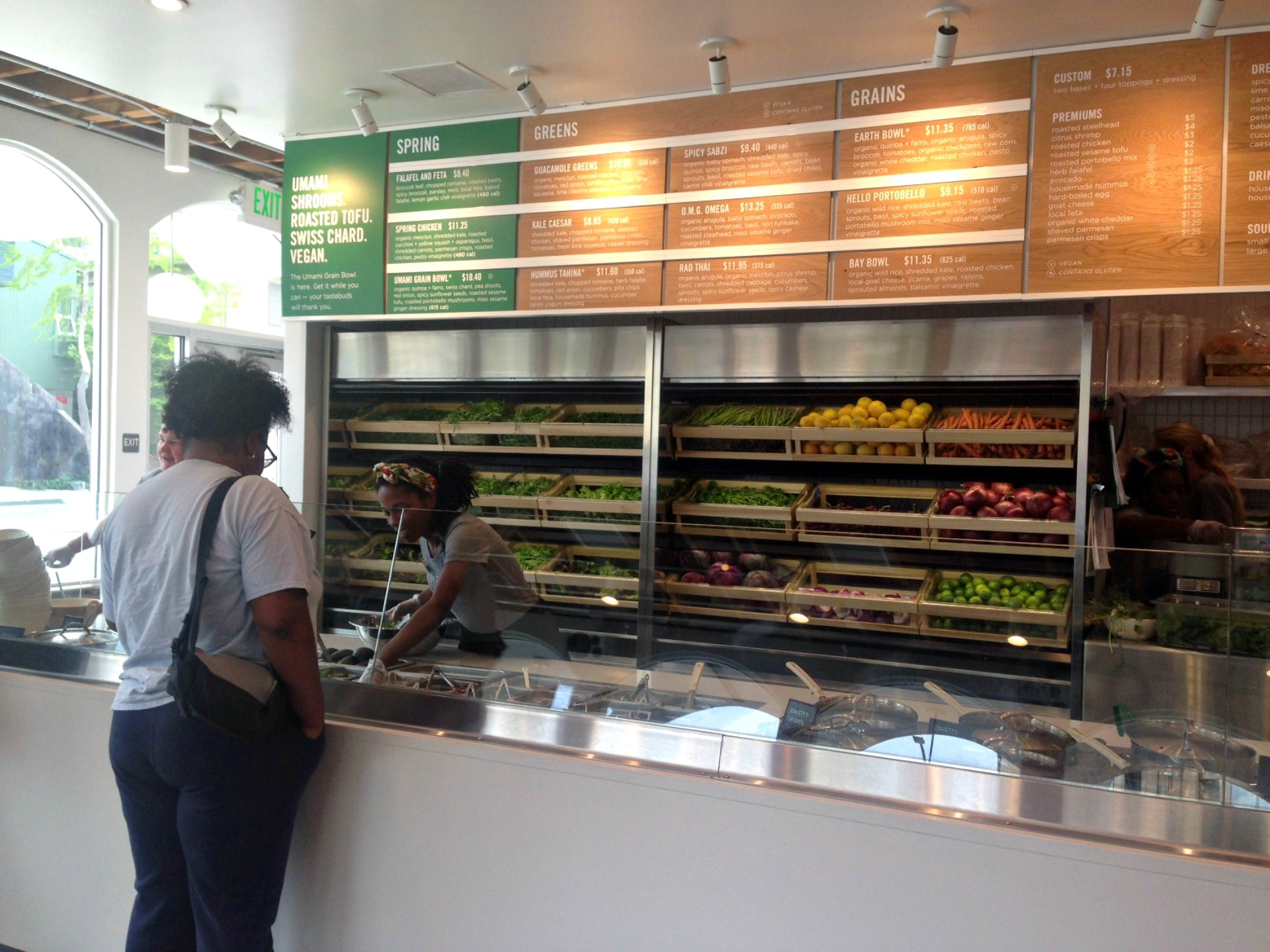 The salad bar at sweetgreen.