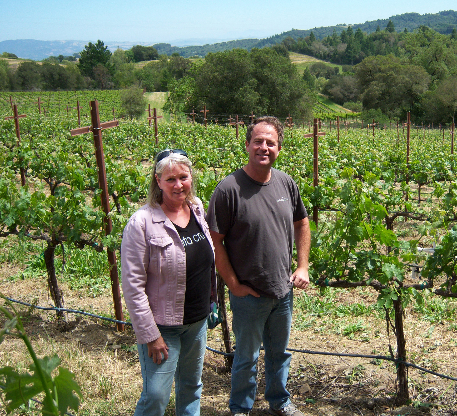 Winemaker Katie Fox and business partner Dan Santa craft wines for home vineyard owners who are often located in wealthy towns in the Santa Cruz Mountains area on each side of the range that faces the coast and the valley.