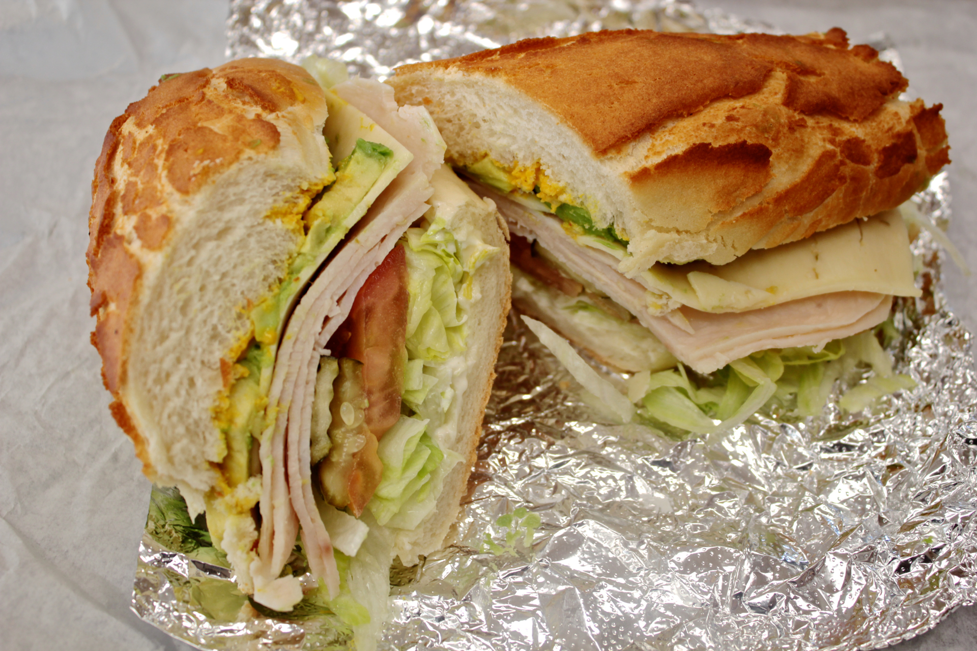 The turkey avocado sandwich at Roger's Deli & Doughnuts.