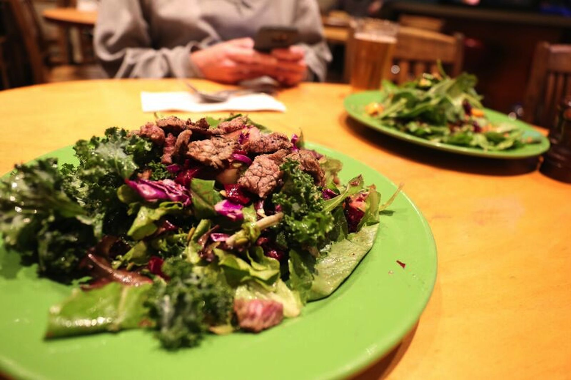 The Mars Detox salad with steak