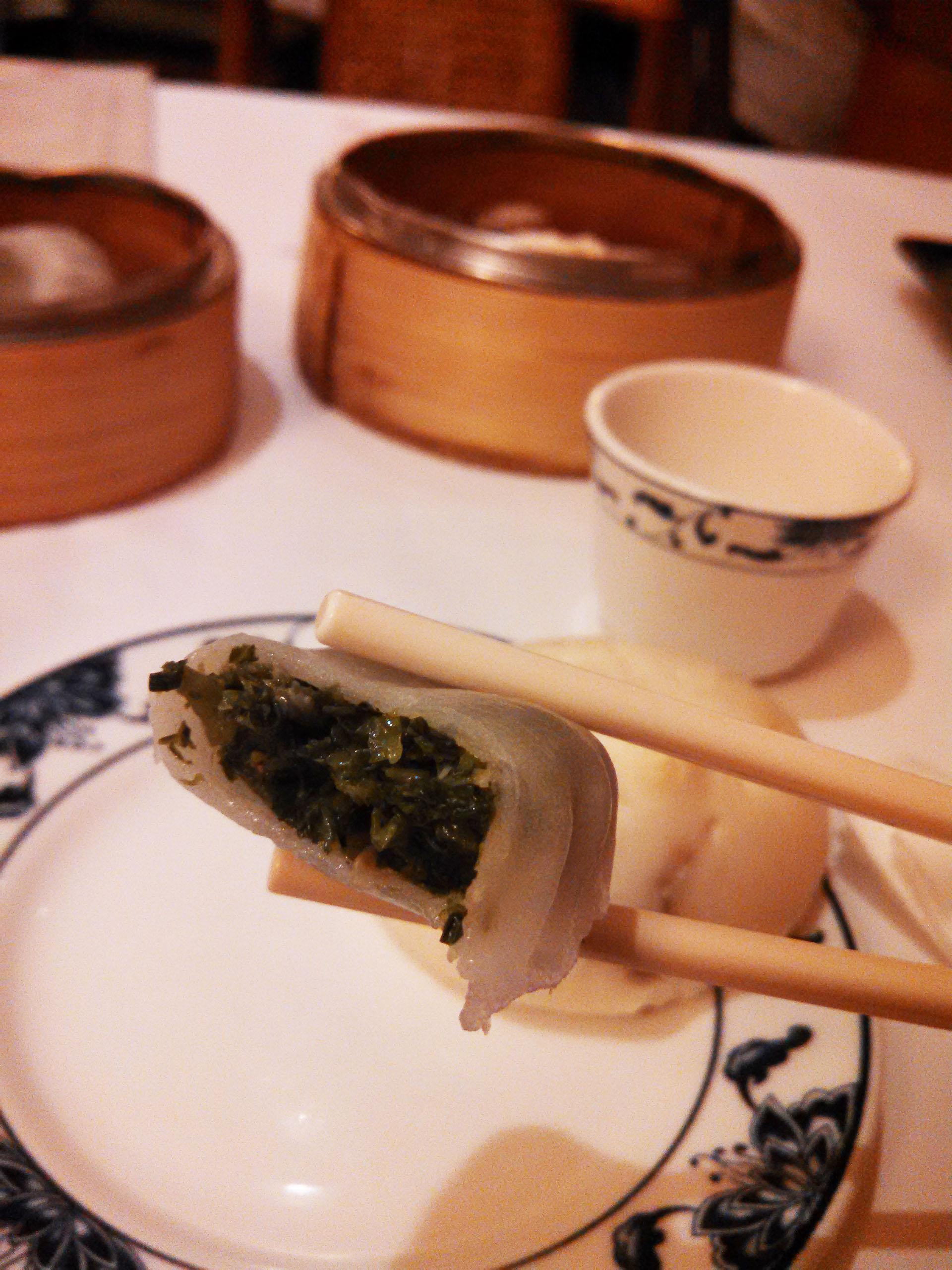 The veggie dumpling