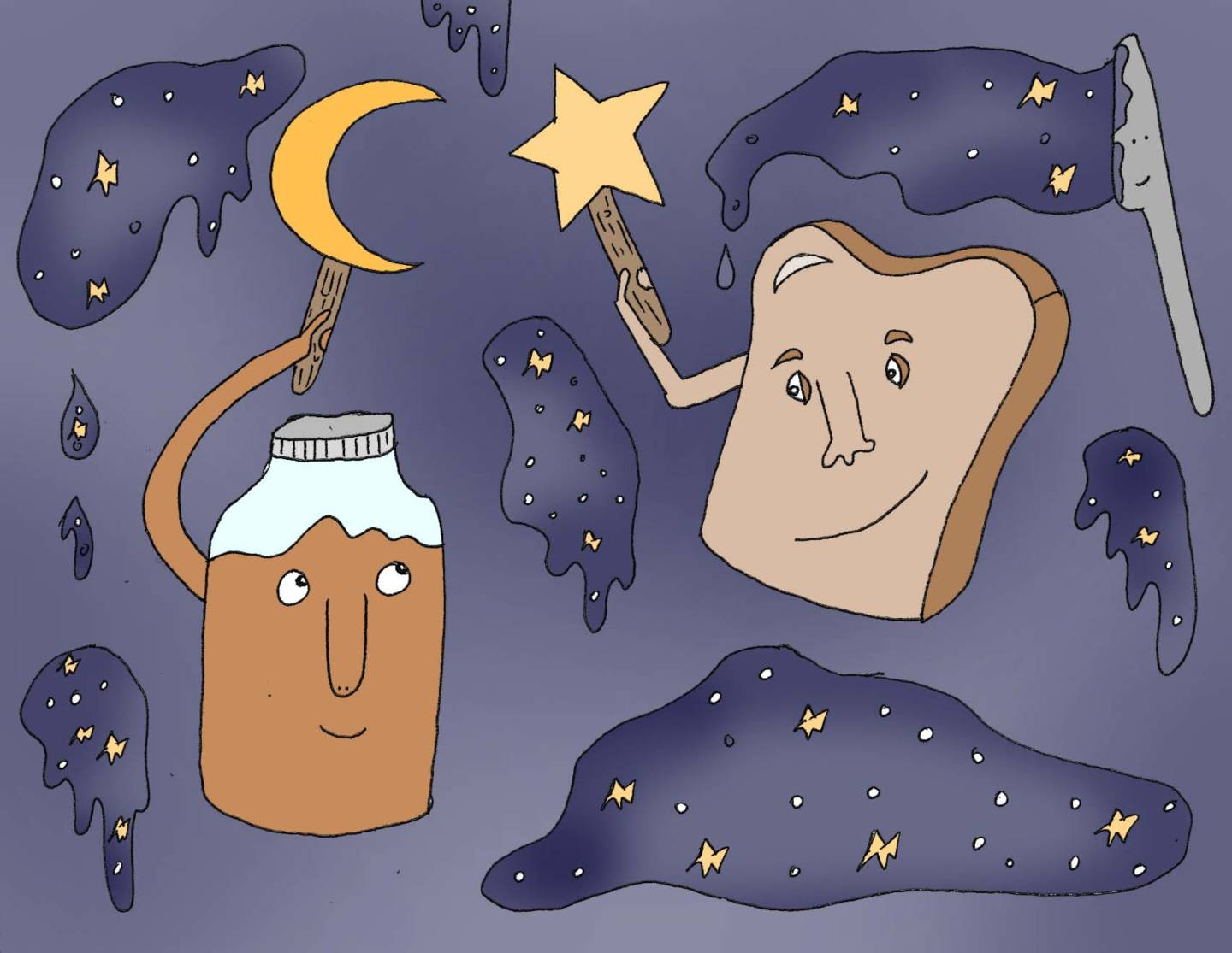 Nut butter and toast enjoy fulfilling your evening snack dreams.