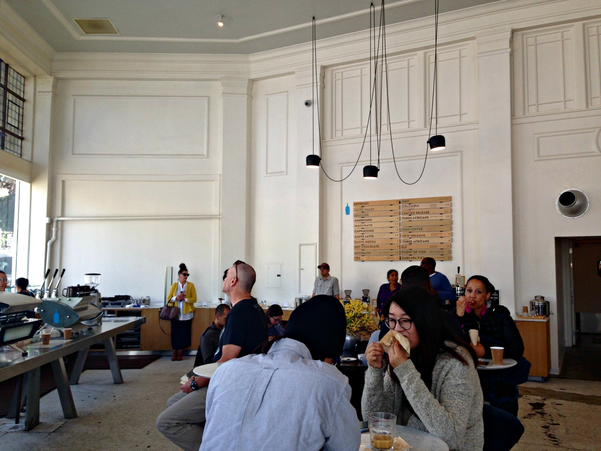 Inside Blue Bottle's W.C. Morse Café.