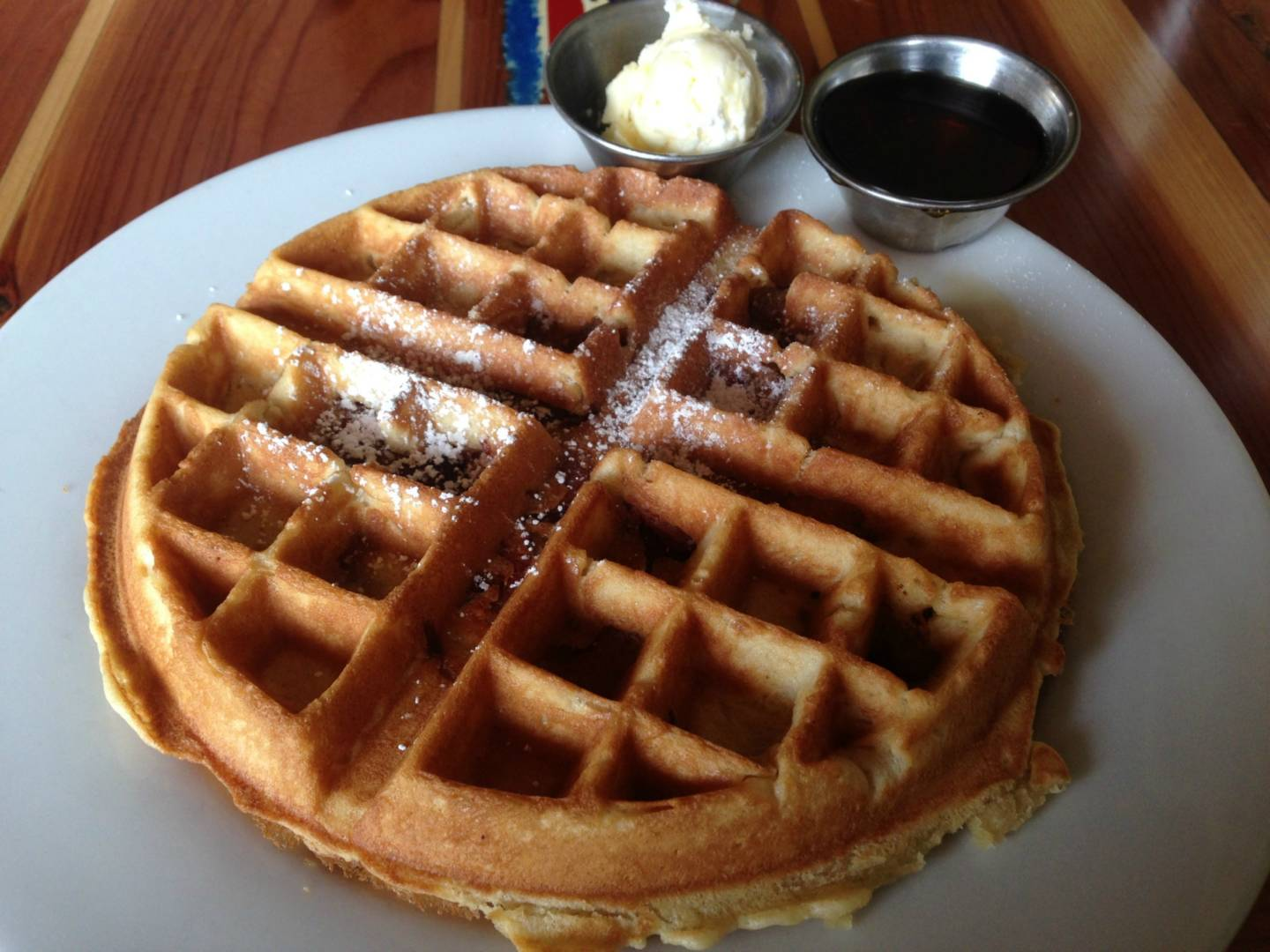 A bacon waffle at Beachside Coffee Bar & Kitchen.  Shelby Pope