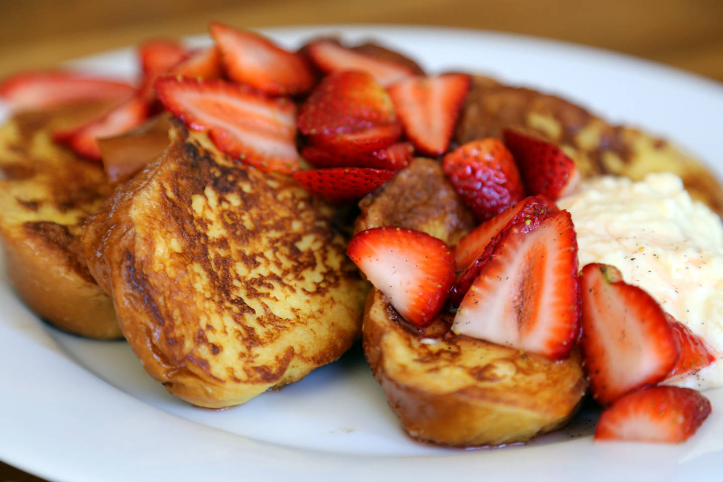 Mother's Day Challah French Toast with Fresh Ricotta and Strawberries