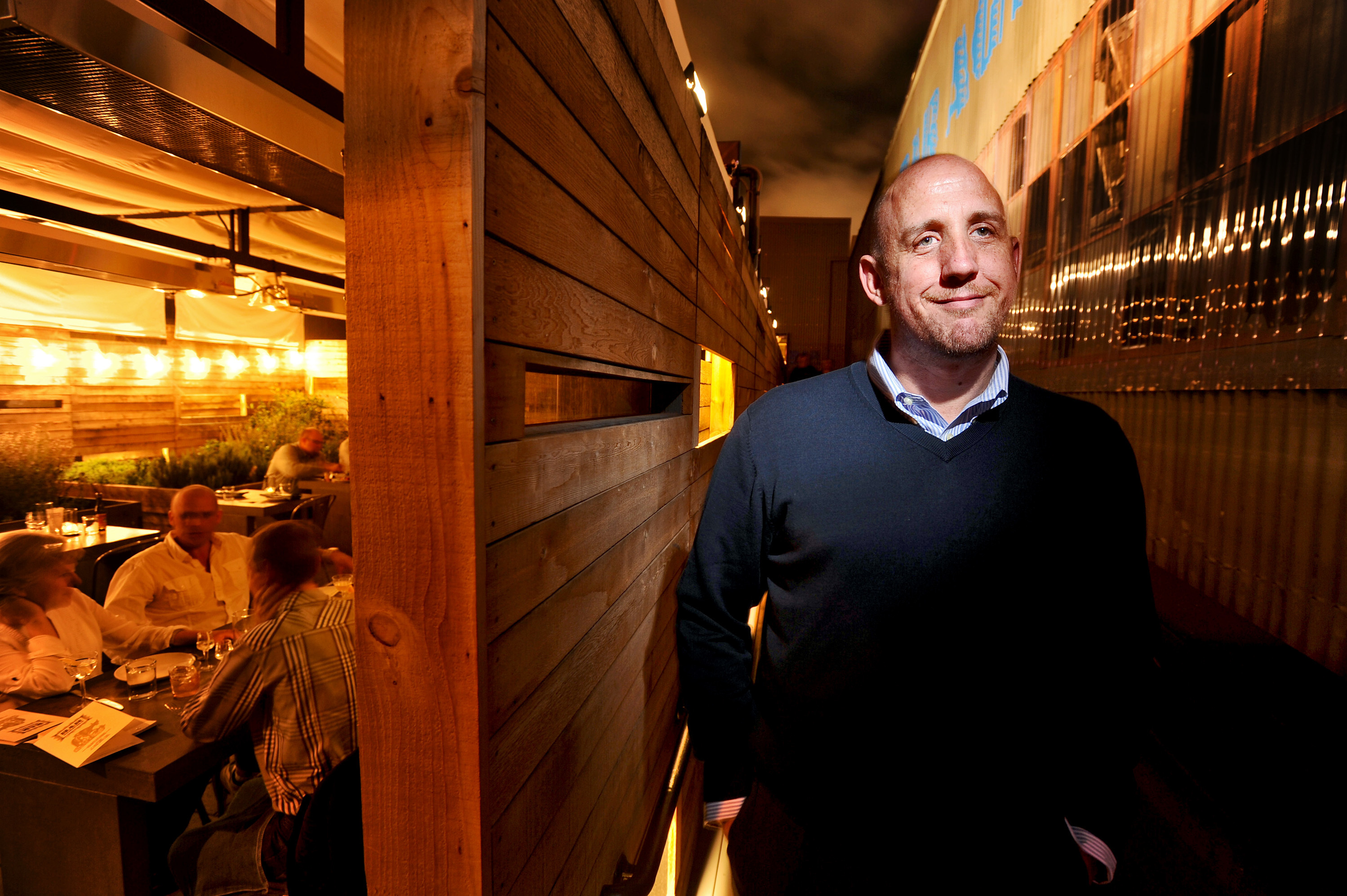 Thad Vogler, at his restaurant Bar Agricole in 2011, says the no-tipping model didn't work out for his two San Francisco restaurants. Looking back, he would've hiked up his prices even more so the money flowed to the staff more evenly.