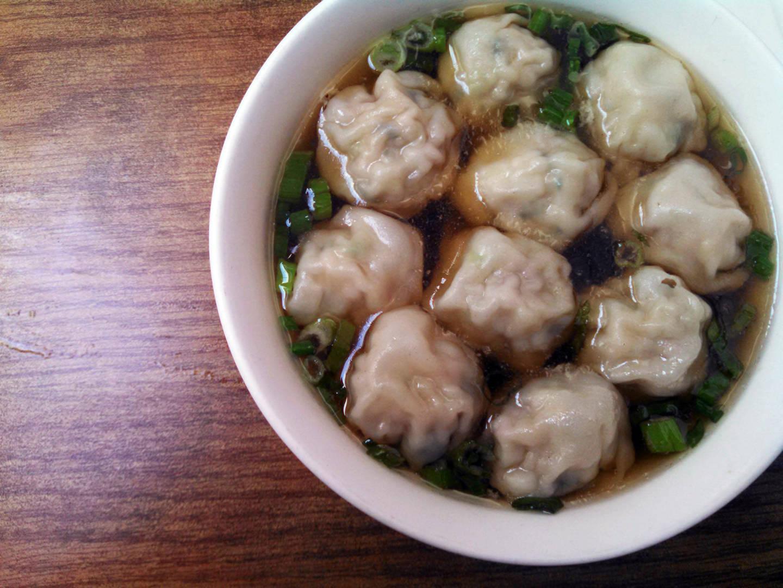 The Shanghai-style wonton dumpling soup.