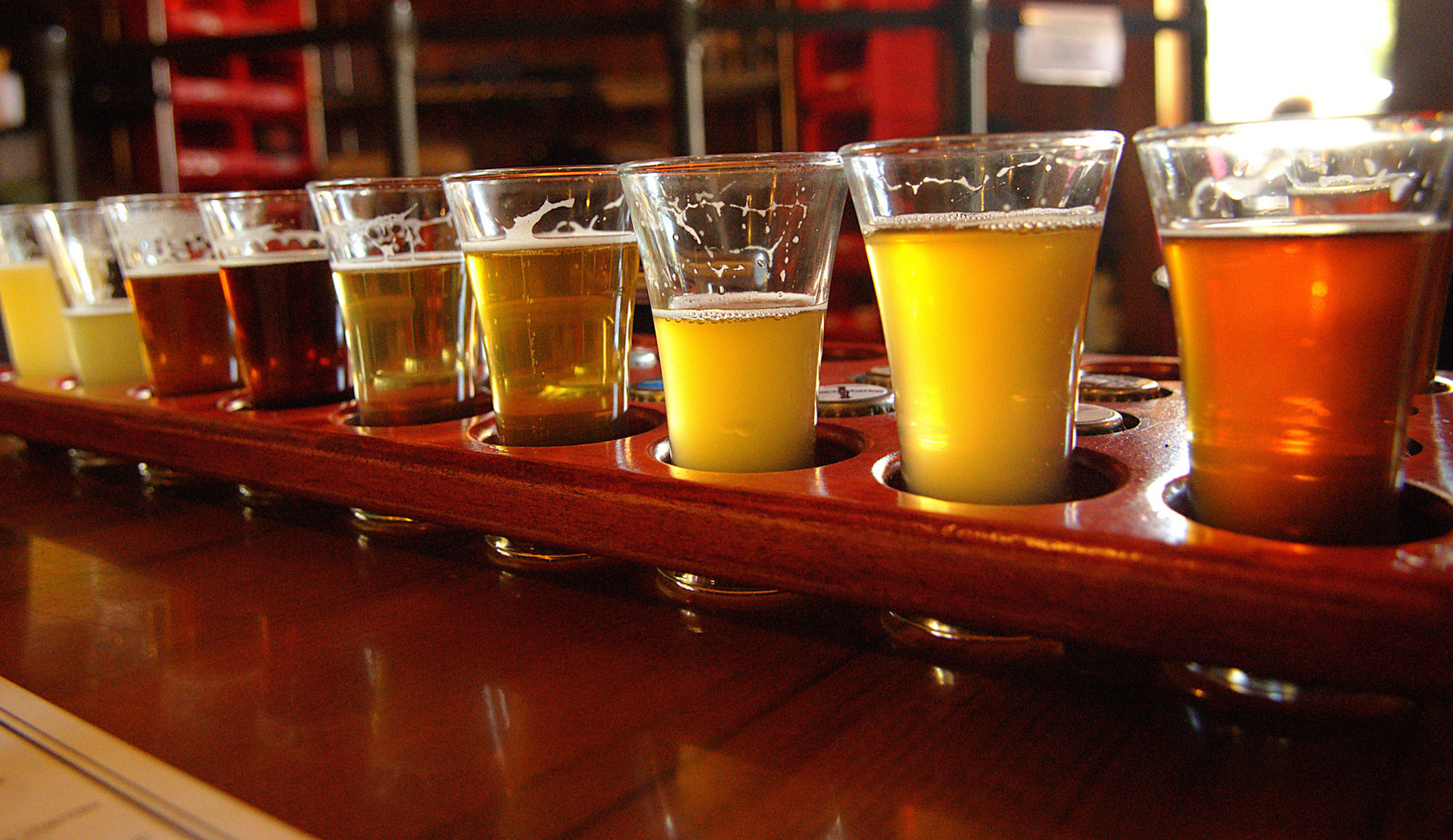 Russian River Brewing tasting sampler