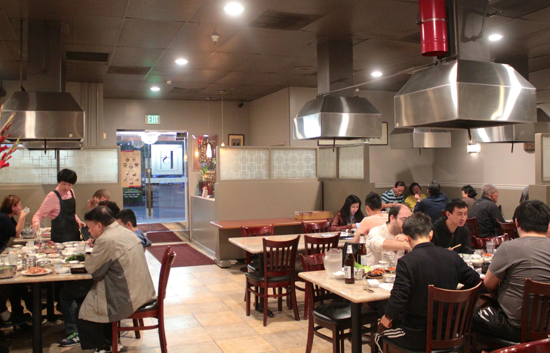 Diners inside Han Sung in Santa Clara.