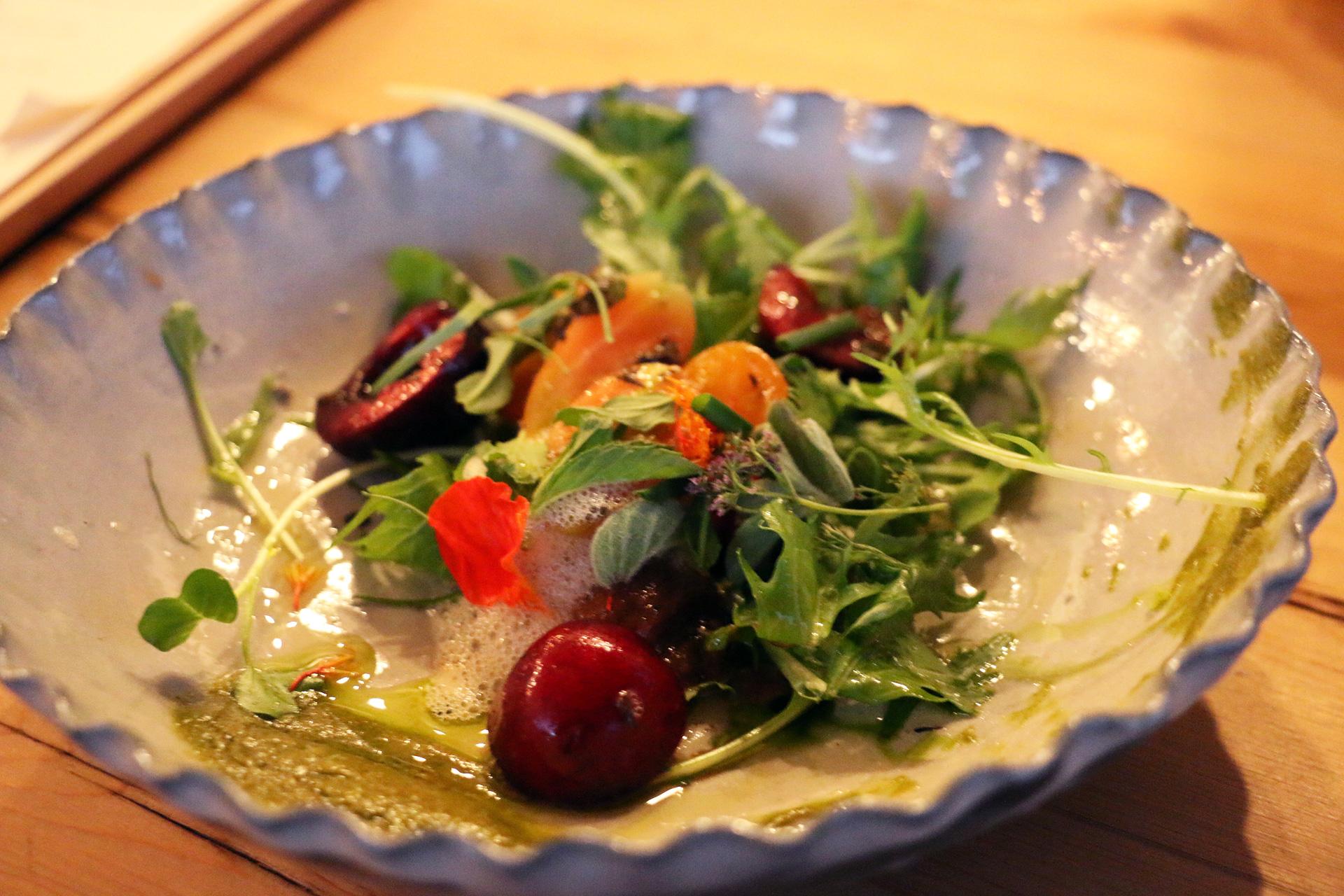 Tomato and cherry salad.