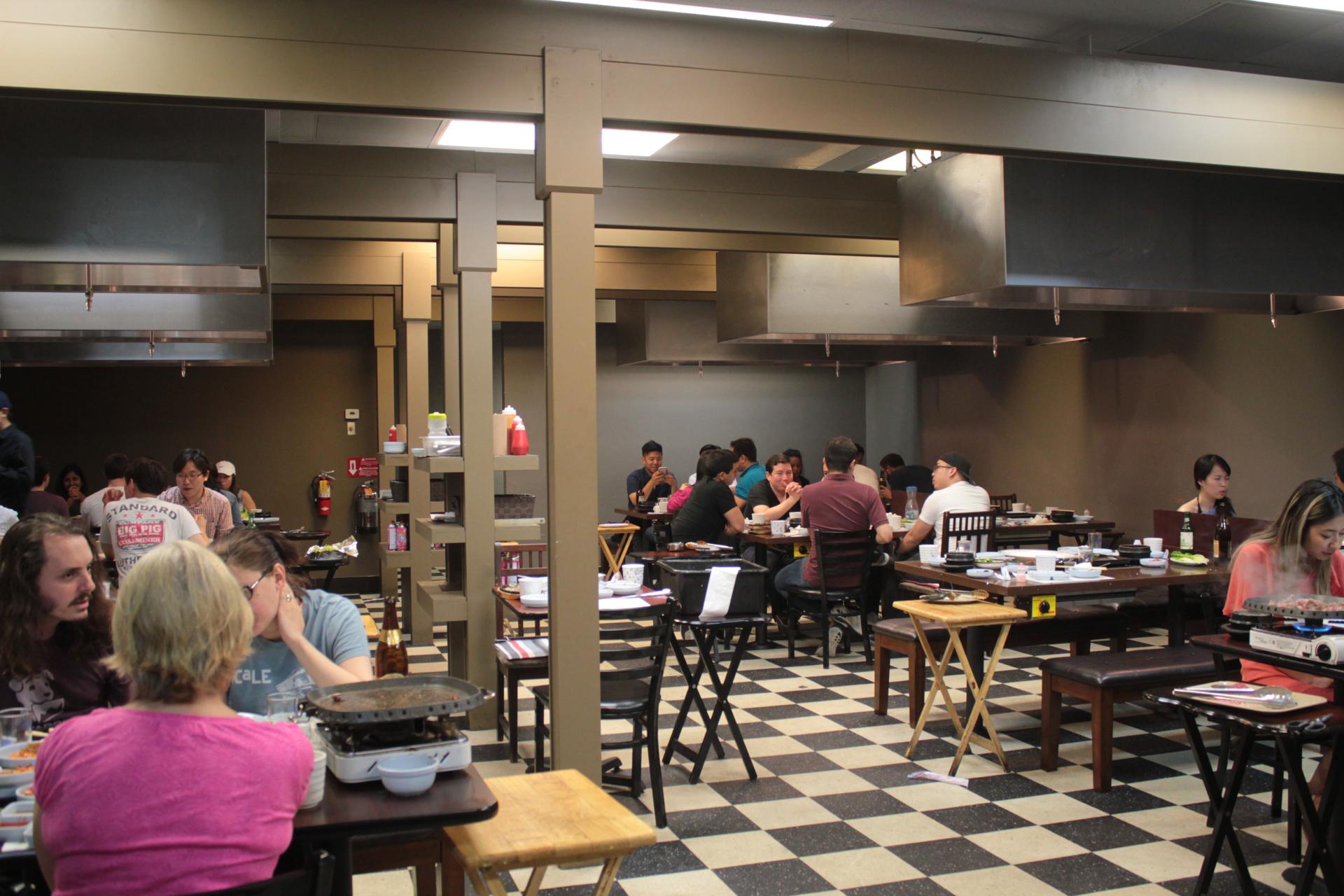 Diners inside To Bang in Santa Clara.
