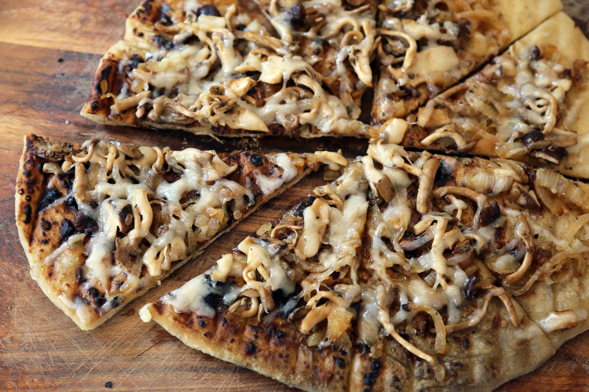Wild Mushroom Grilled Pizza