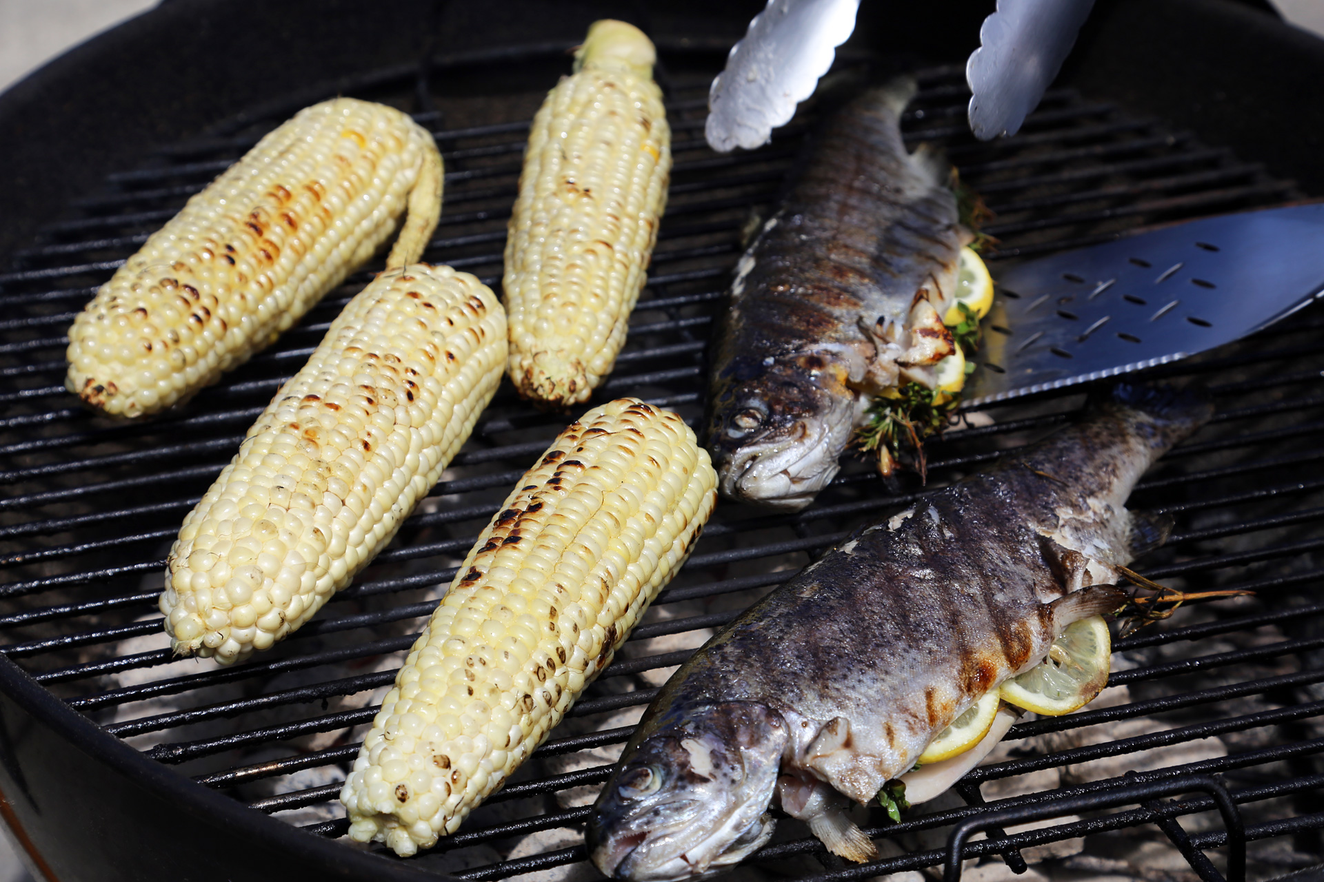 On the Grill for Father's Day: Whole Grilled Rainbow Trout Stuffed ...