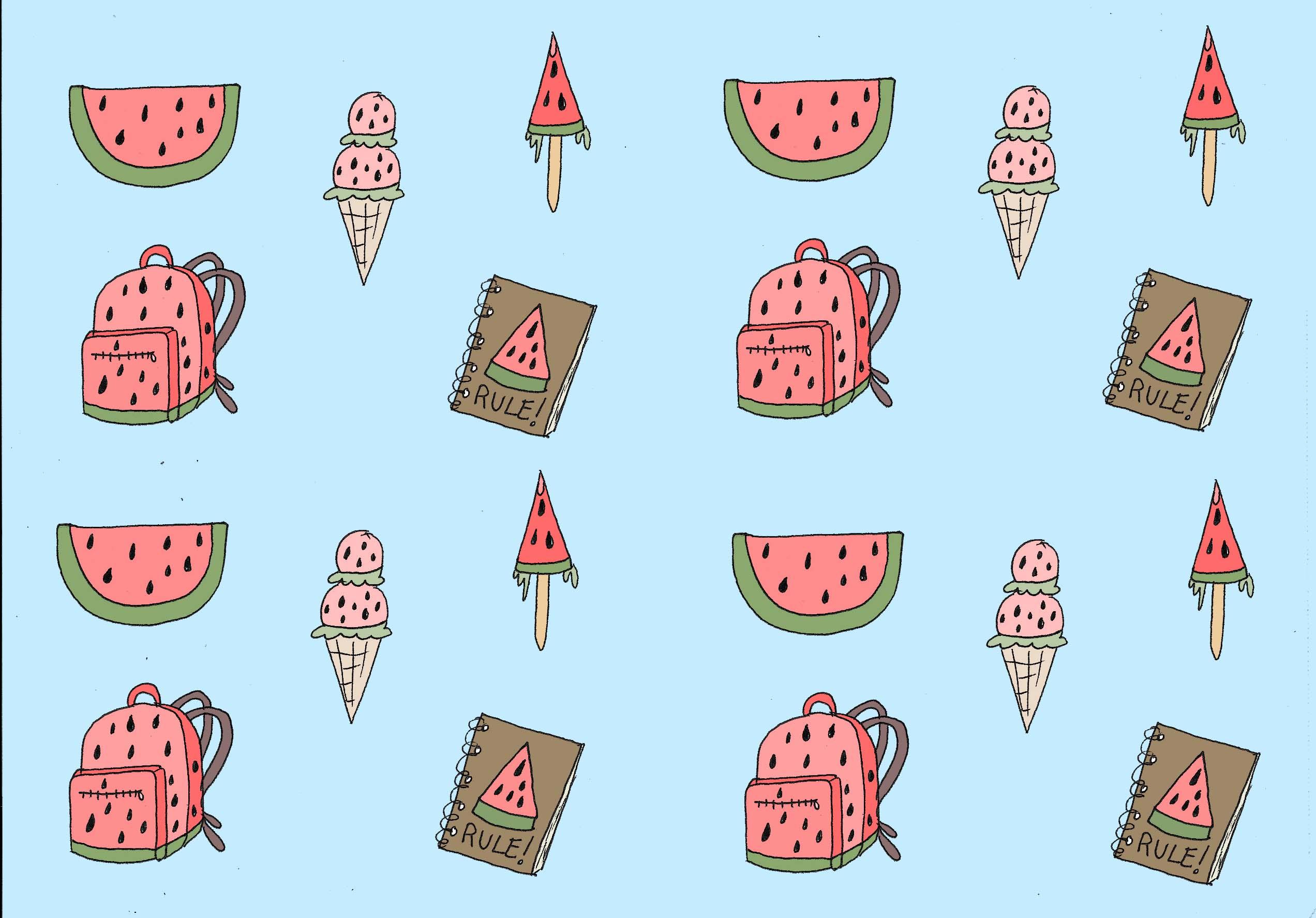 Watermelon girl's favorite things