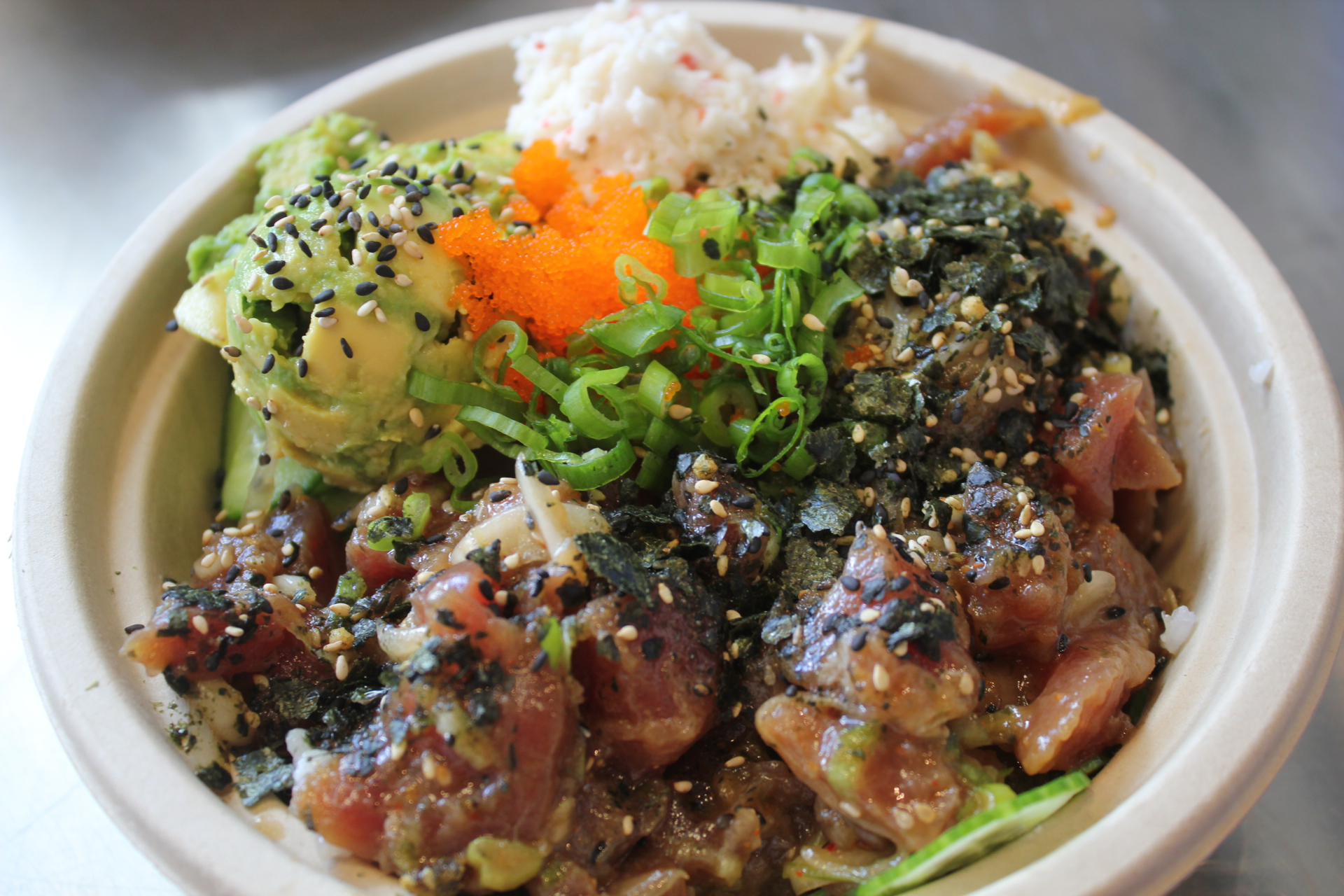 The signature poke bowl at Go Fish Poke Bar.