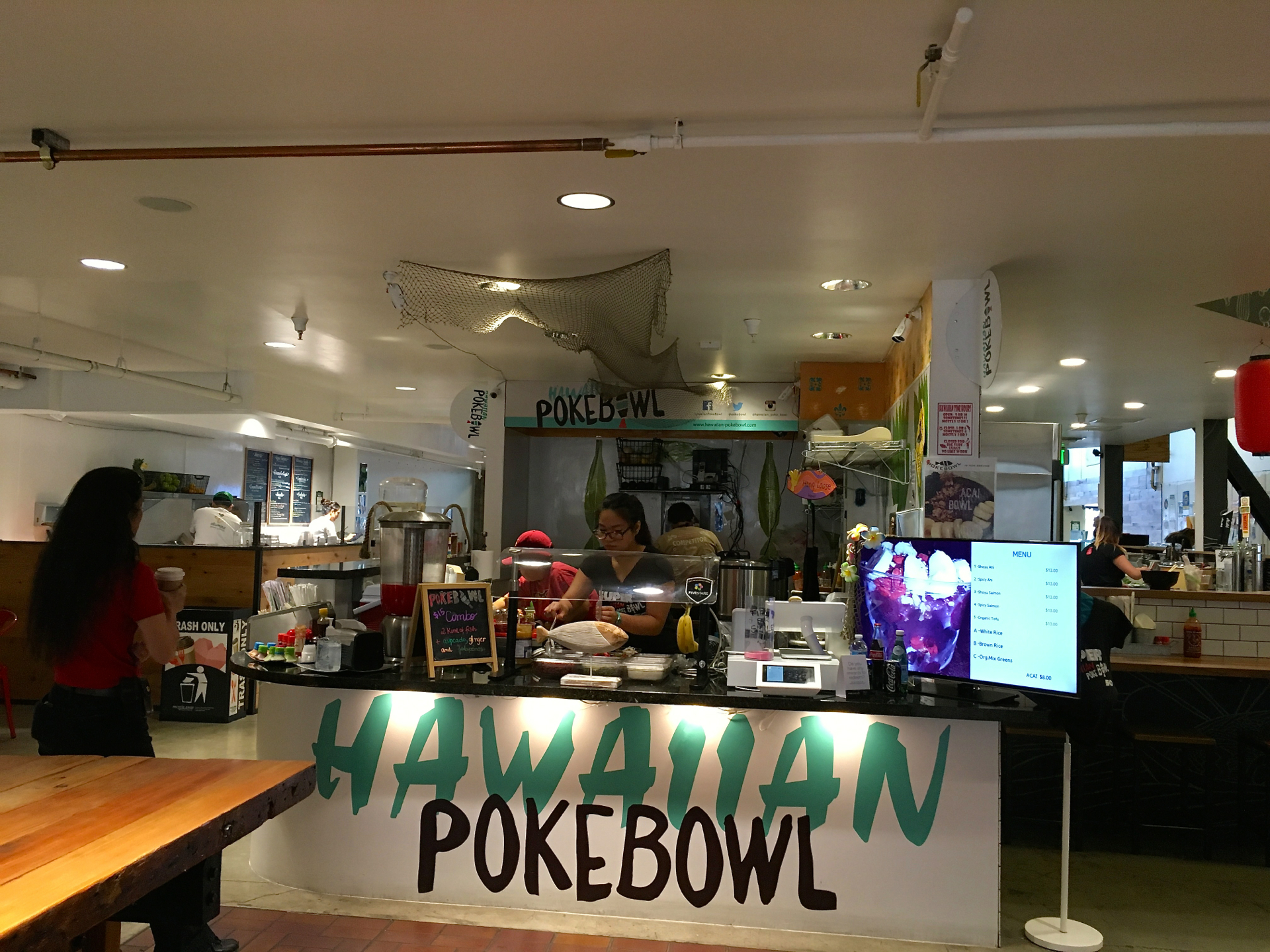 Hawaiian Poke Bowl inside the SoFA Market in San Jose.