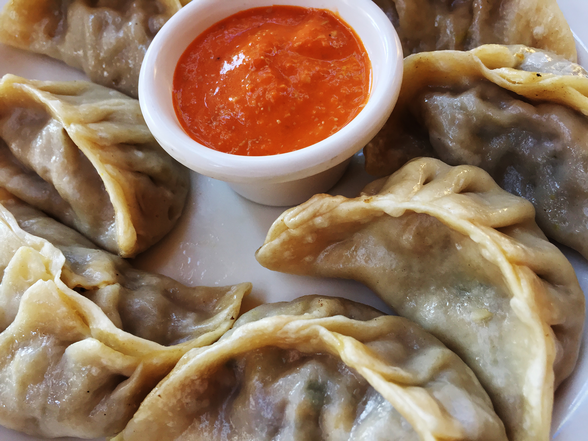 Vegetarian momos at Annapurna. (Kim Westerman) Enjoying Annapurna's ...