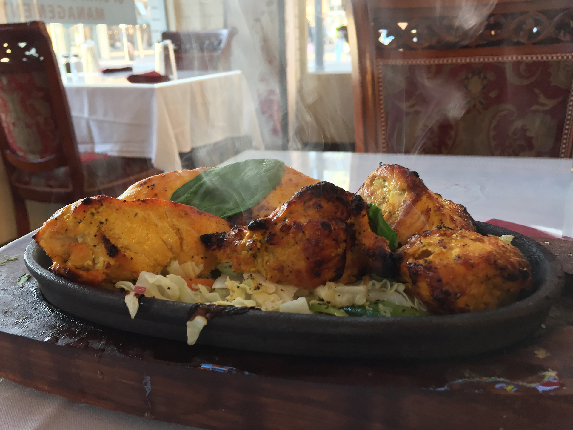 Tandoori chicken tikka.