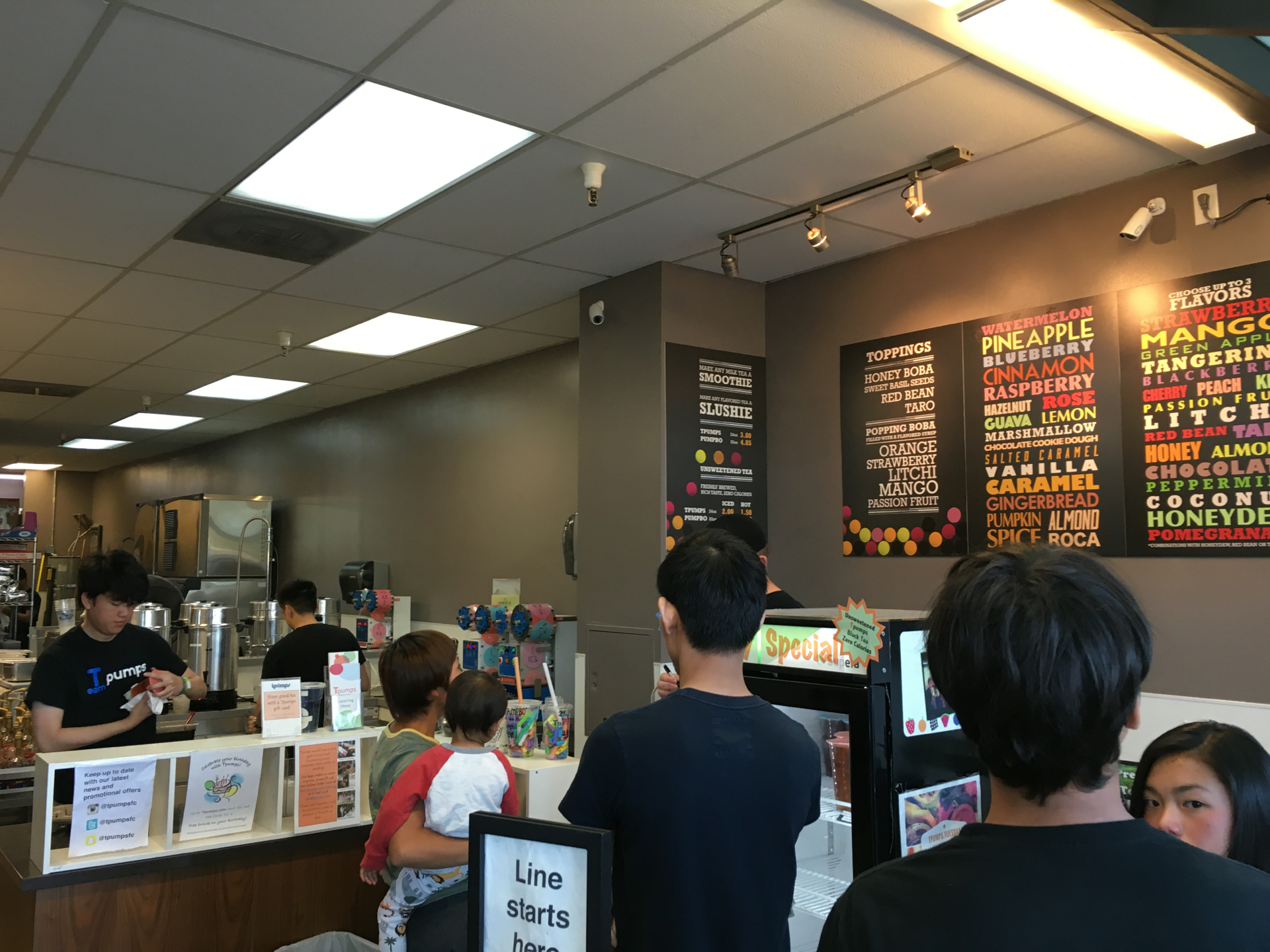 Inside TPumps in Foster City.