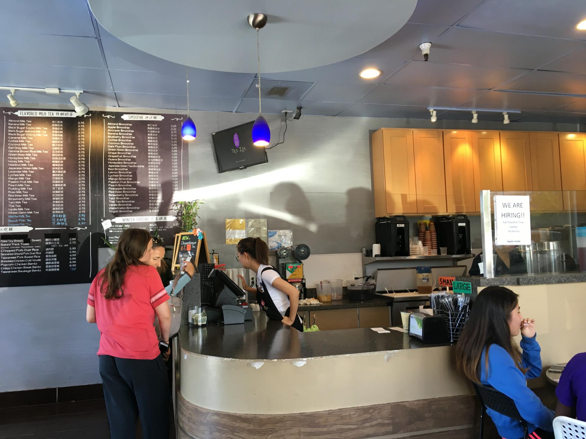 Inside Tea Era in Cupertino.