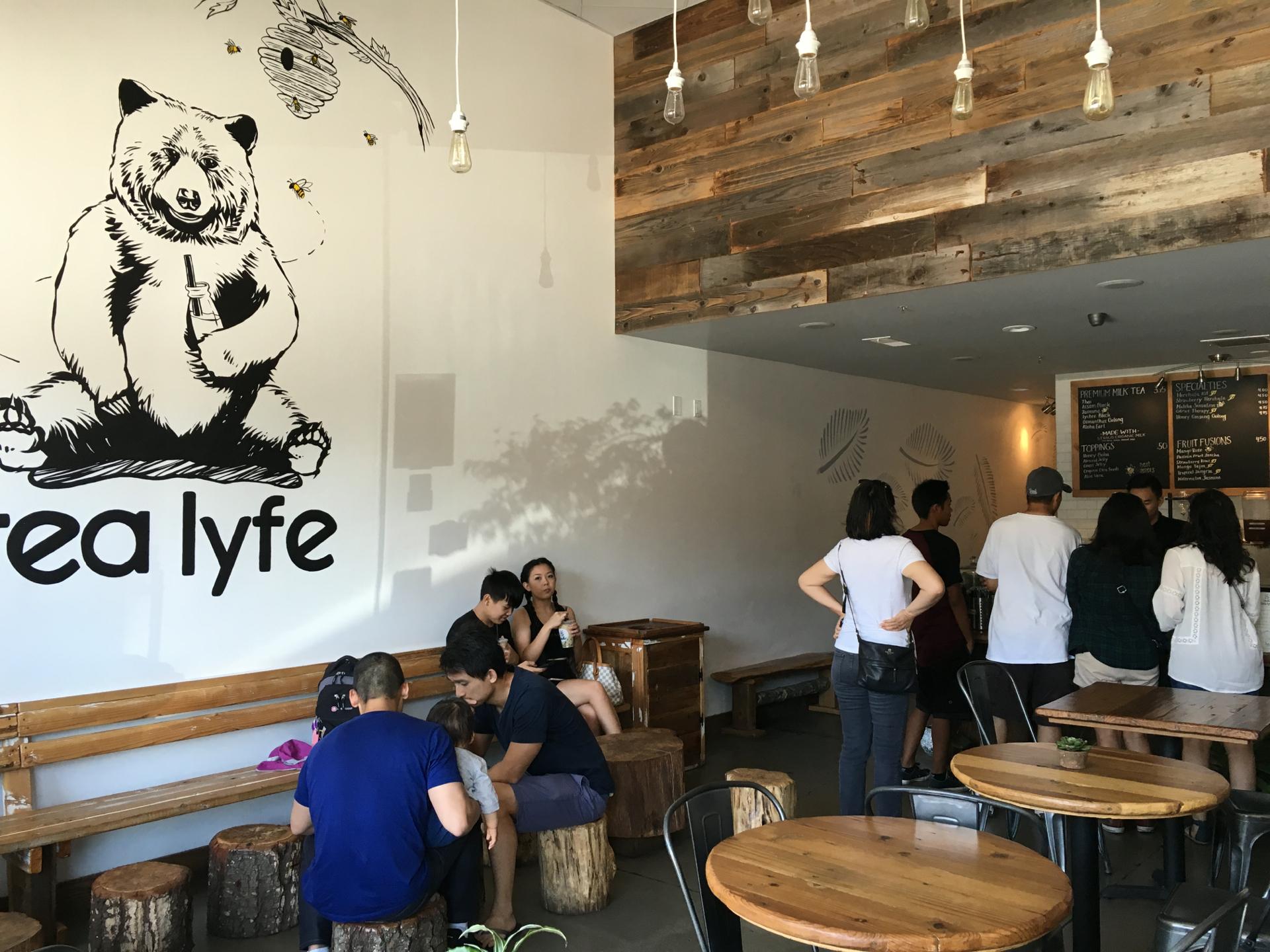 Inside Tea Lyfe in San Jose.