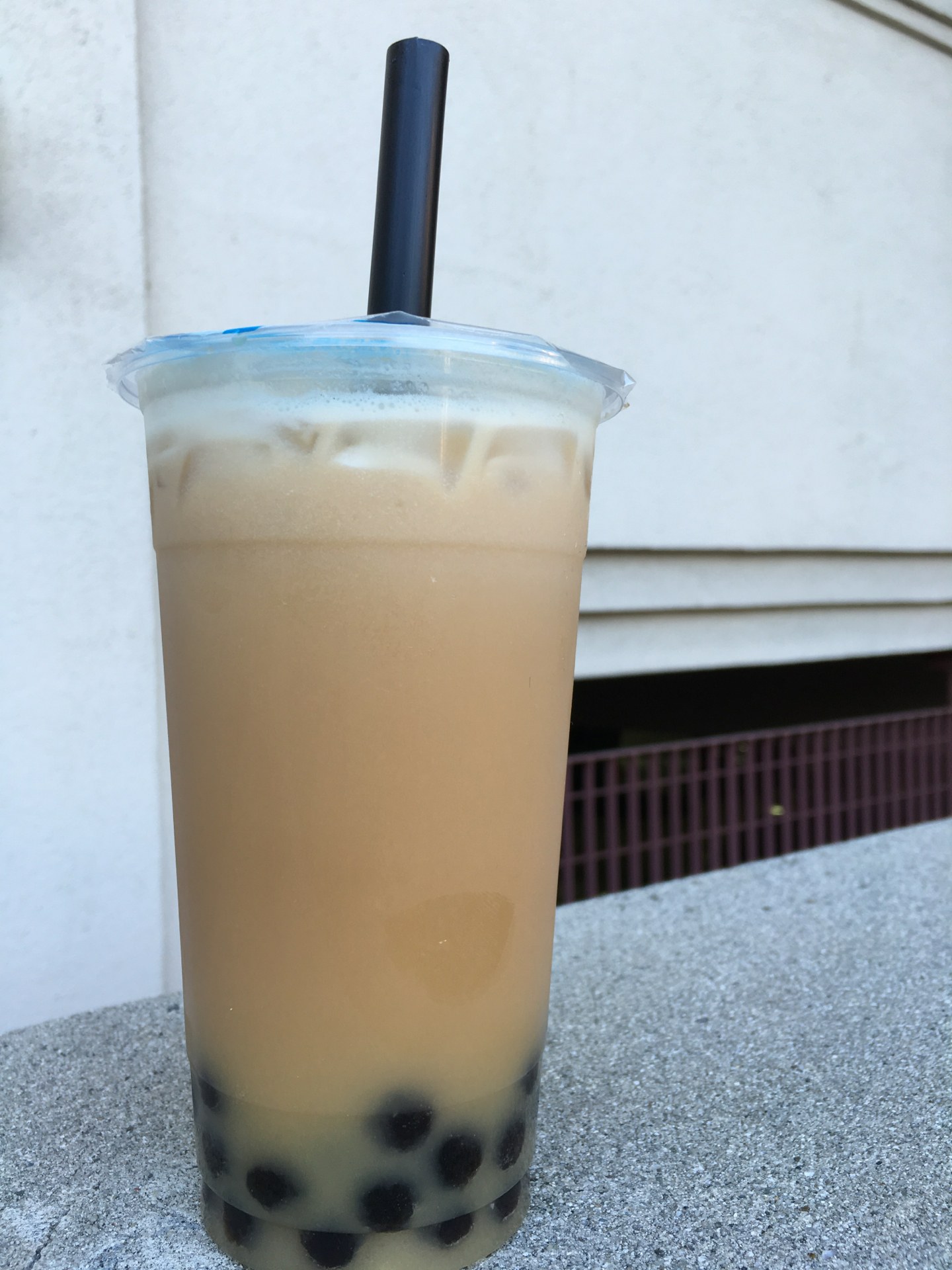 Lychee milk tea from Verde Tea Cafe in Mountain View.