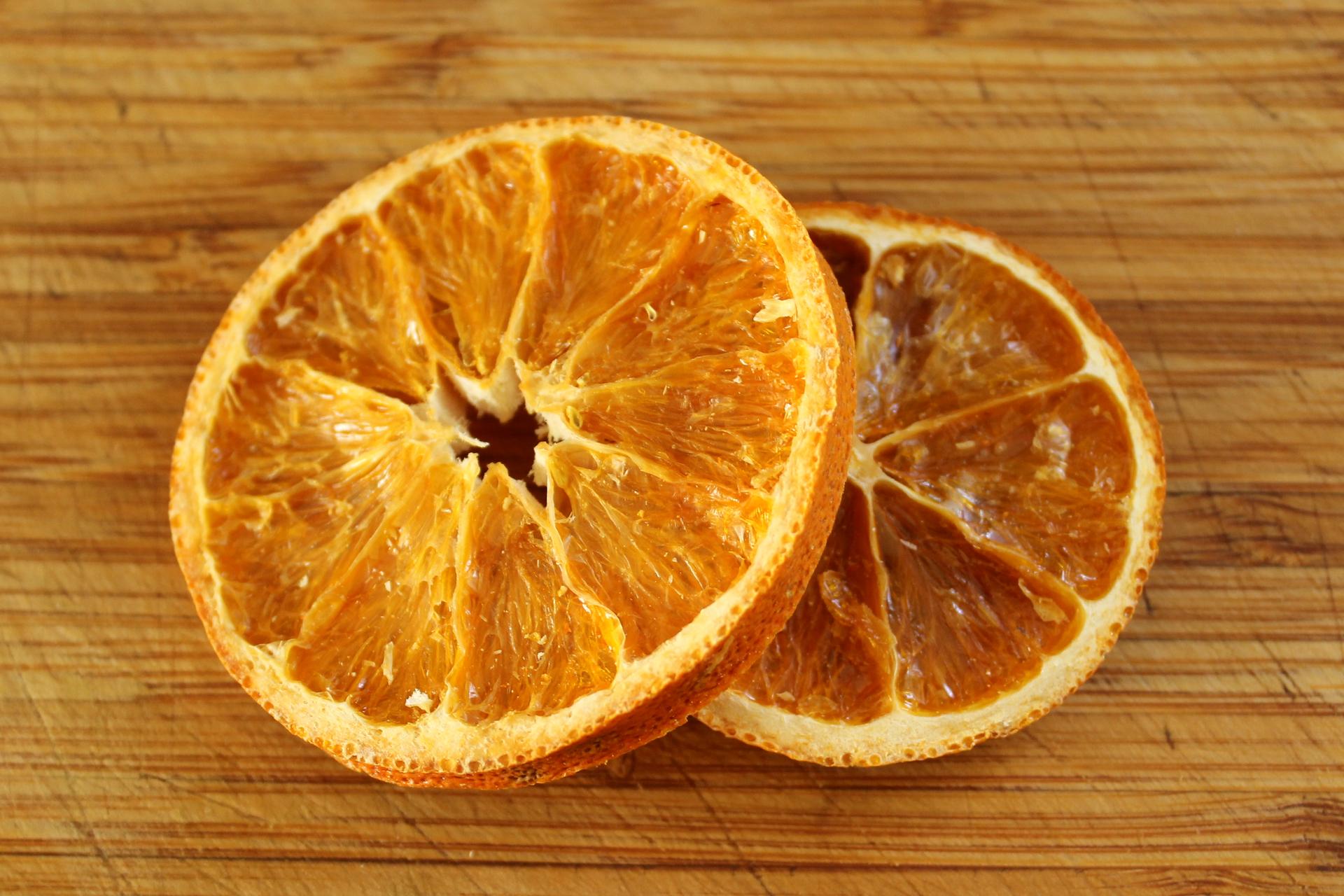 Dried orange slices.