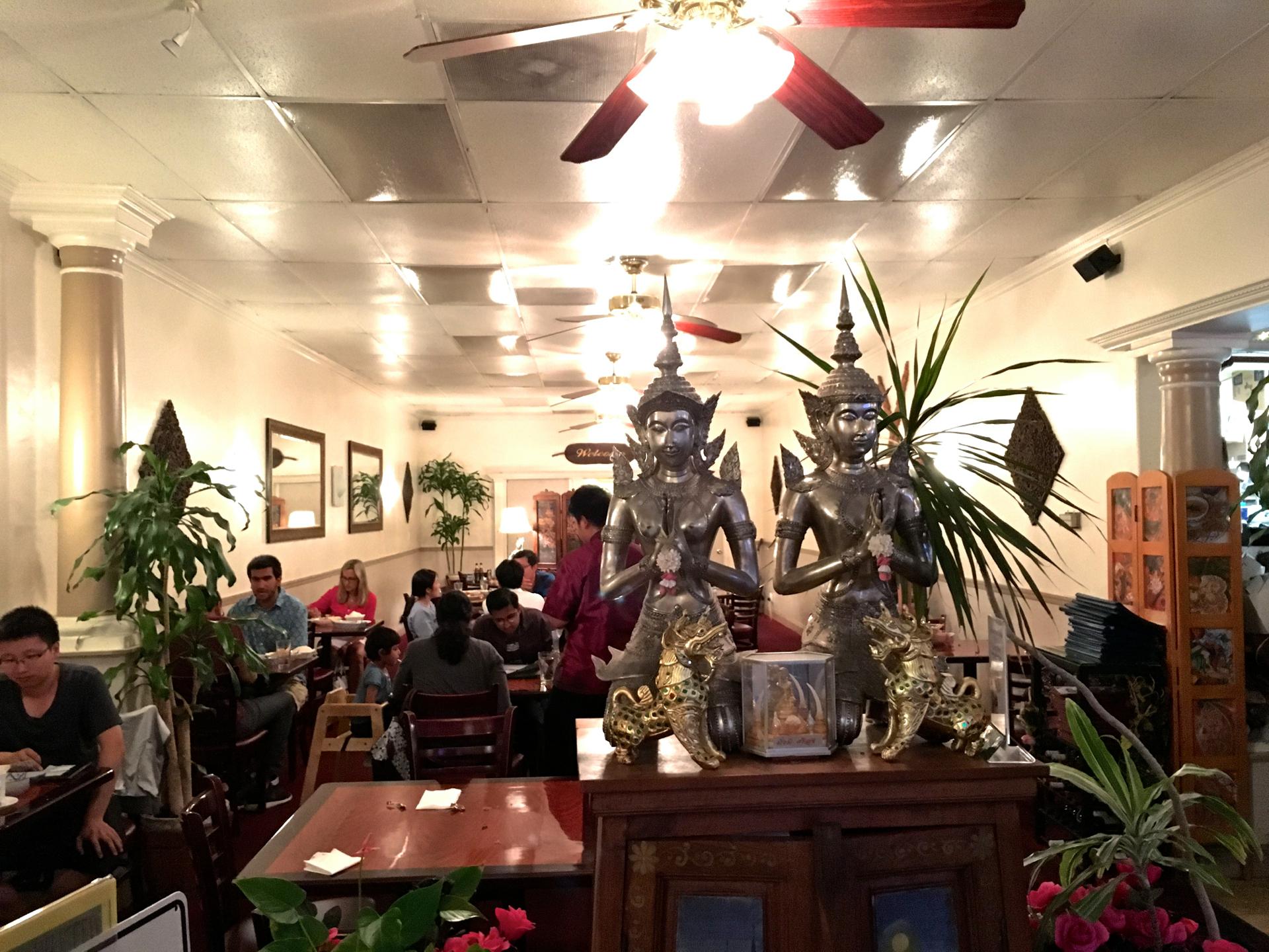 Inside Dusita Thai Cuisine in Santa Clara.