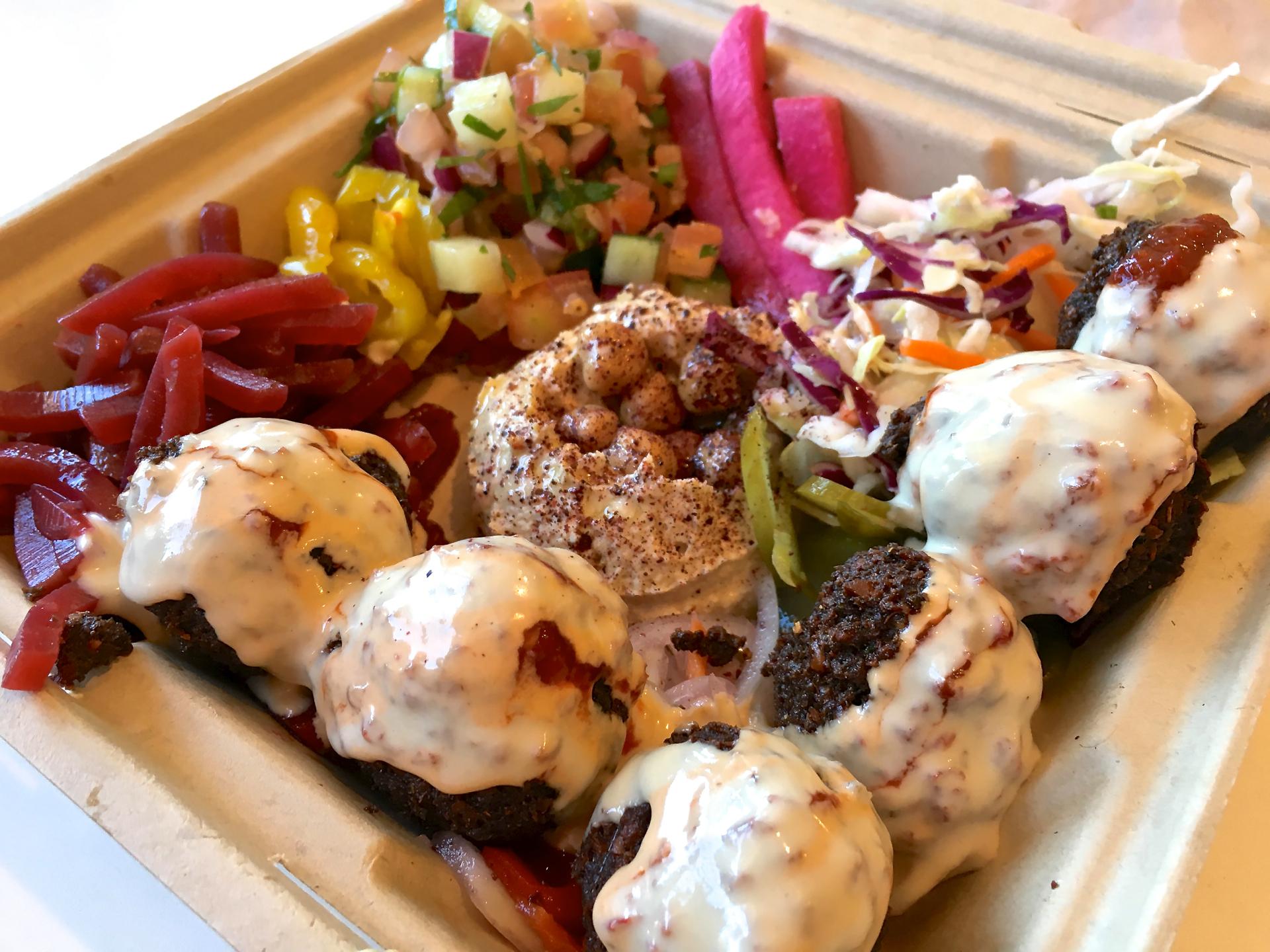 A falafel plate at Falafelle.
