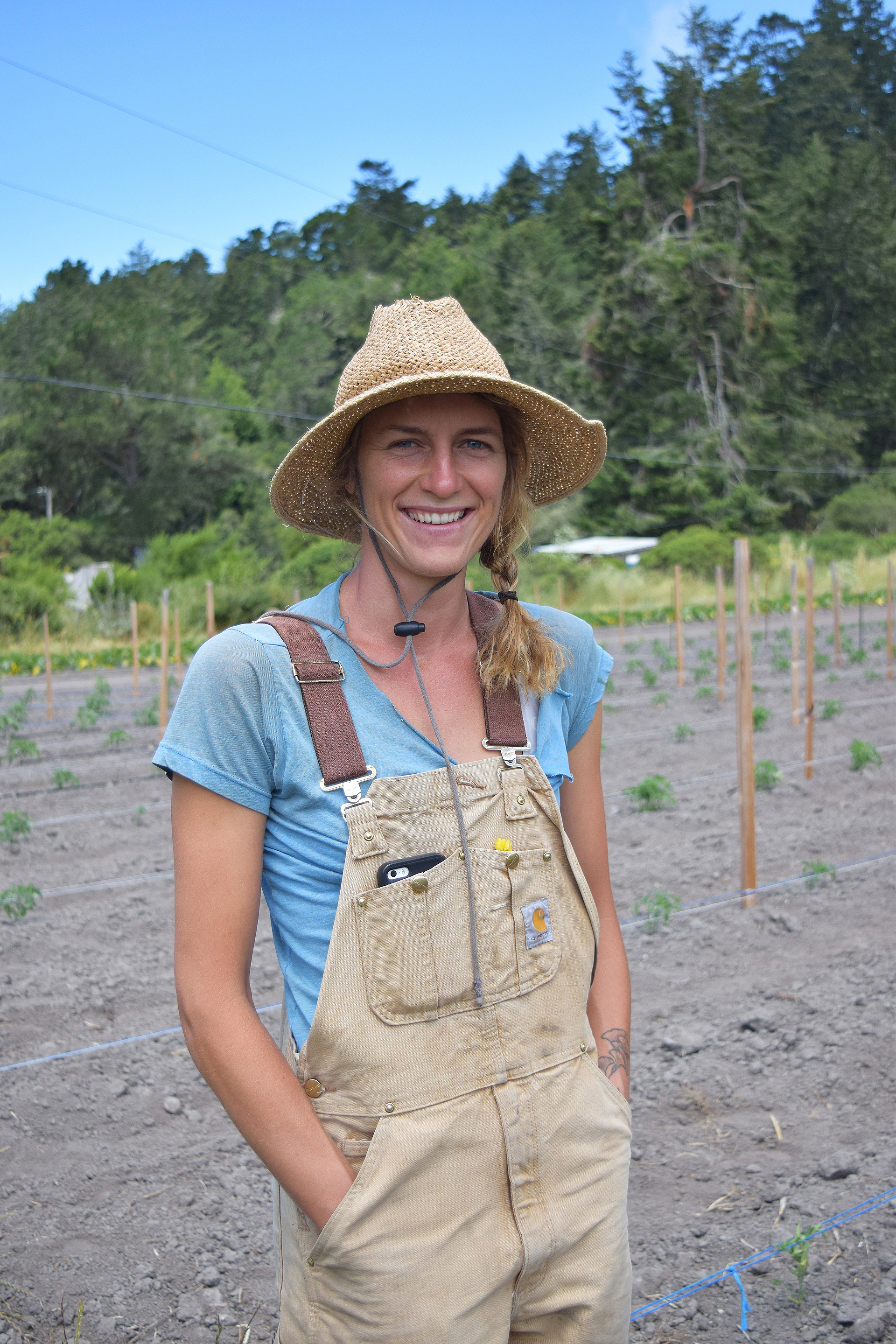 Gia Matzinger and her two farming partners grow Seascape and Albion strawberries at Green Oaks Creek in Pescadero.
