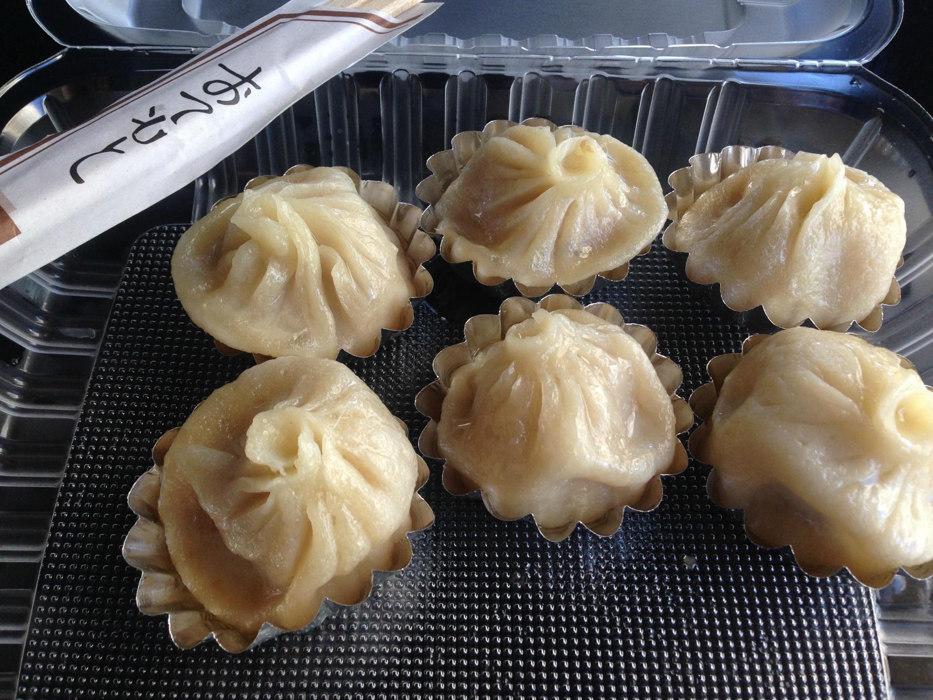 Soup dumplings from Berkeley's Dumpling Express.