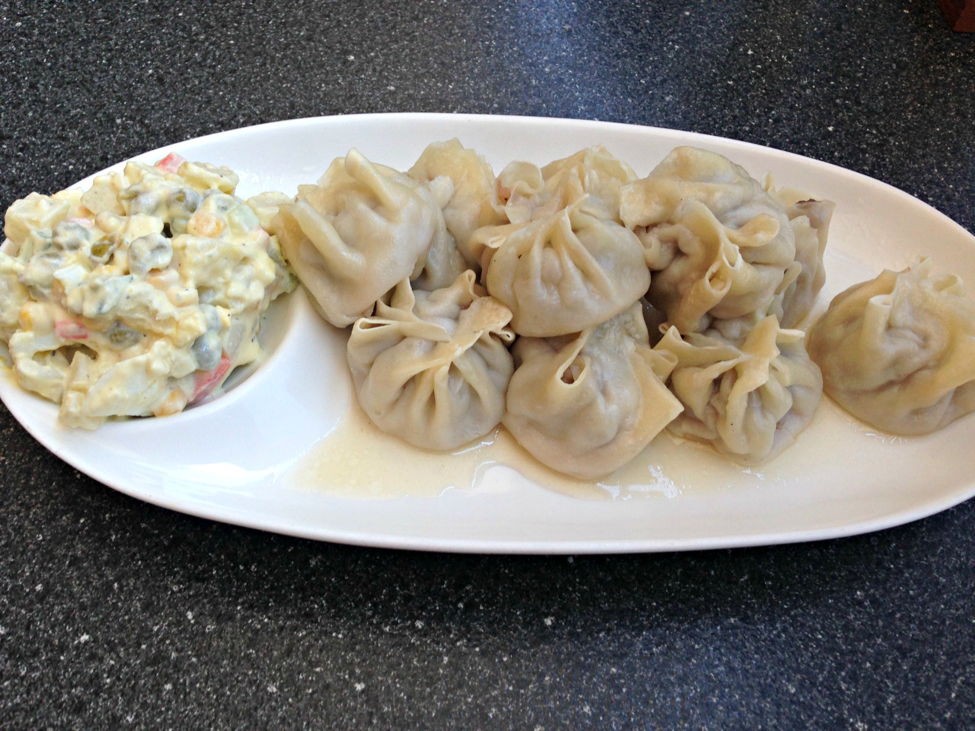 Buuz, a type of Mongolian dumpling, from Togi's in Oakland.