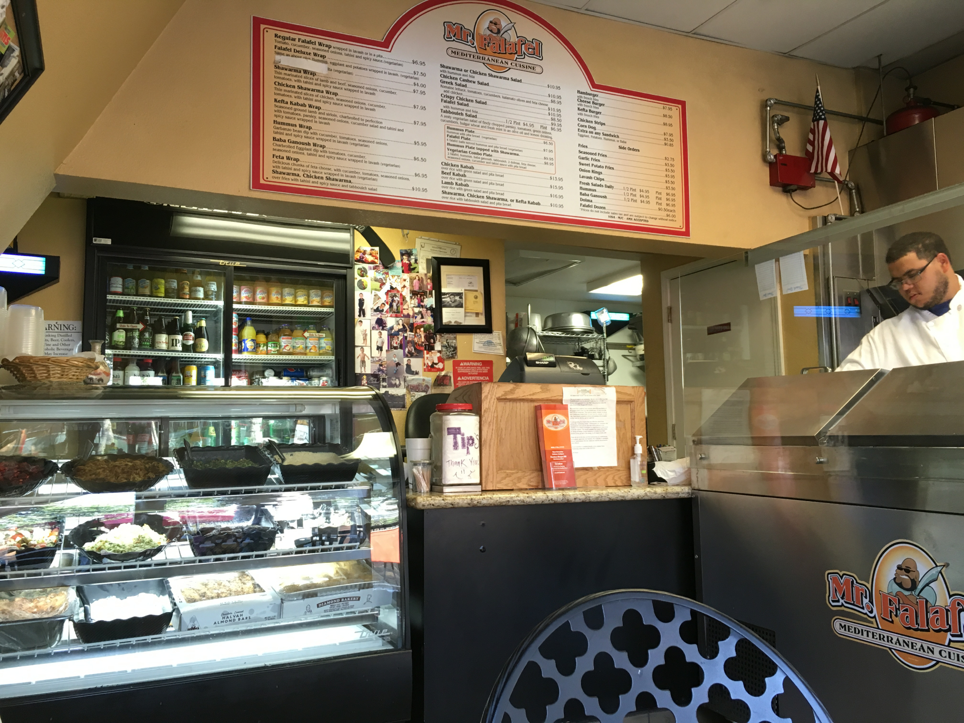 Inside Mr. Falafel in Morgan Hill.